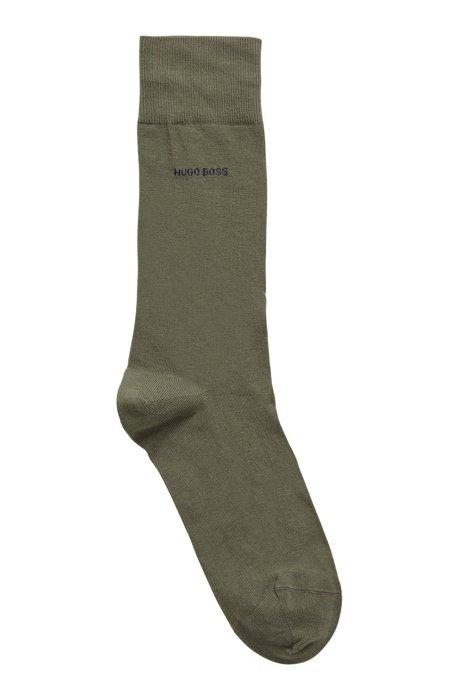 Calcetines de largo estándar en algodón elástico peinado, Verde