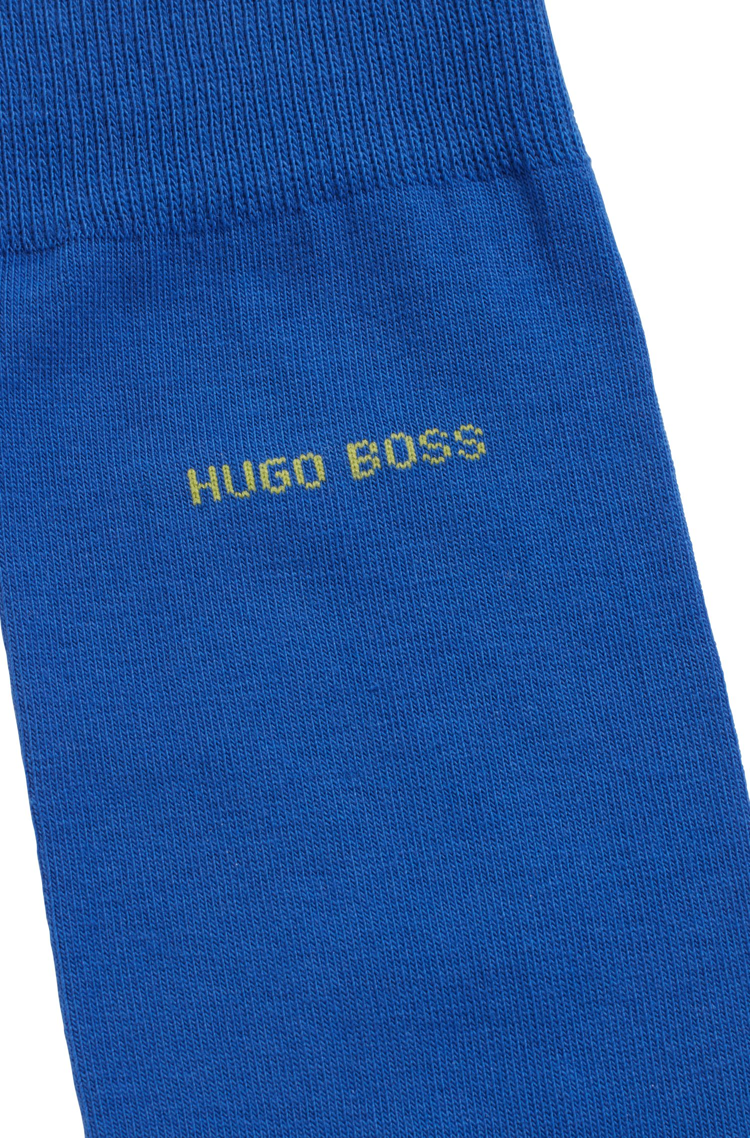 Regular-length socks in combed stretch cotton, Blue