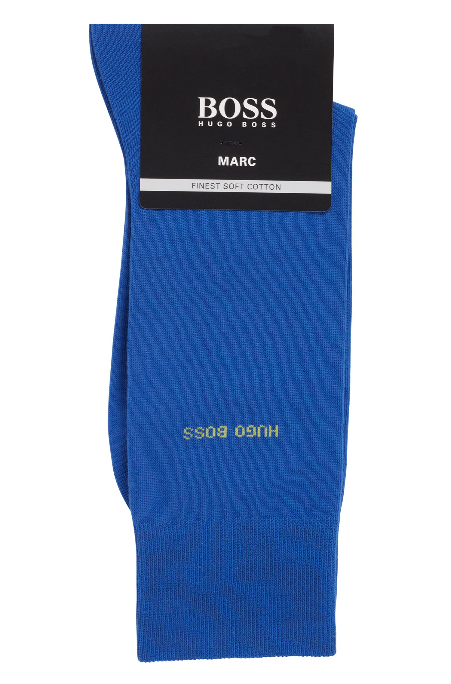 Sokken van gekamde stretchkatoen met normale lengte, Blauw