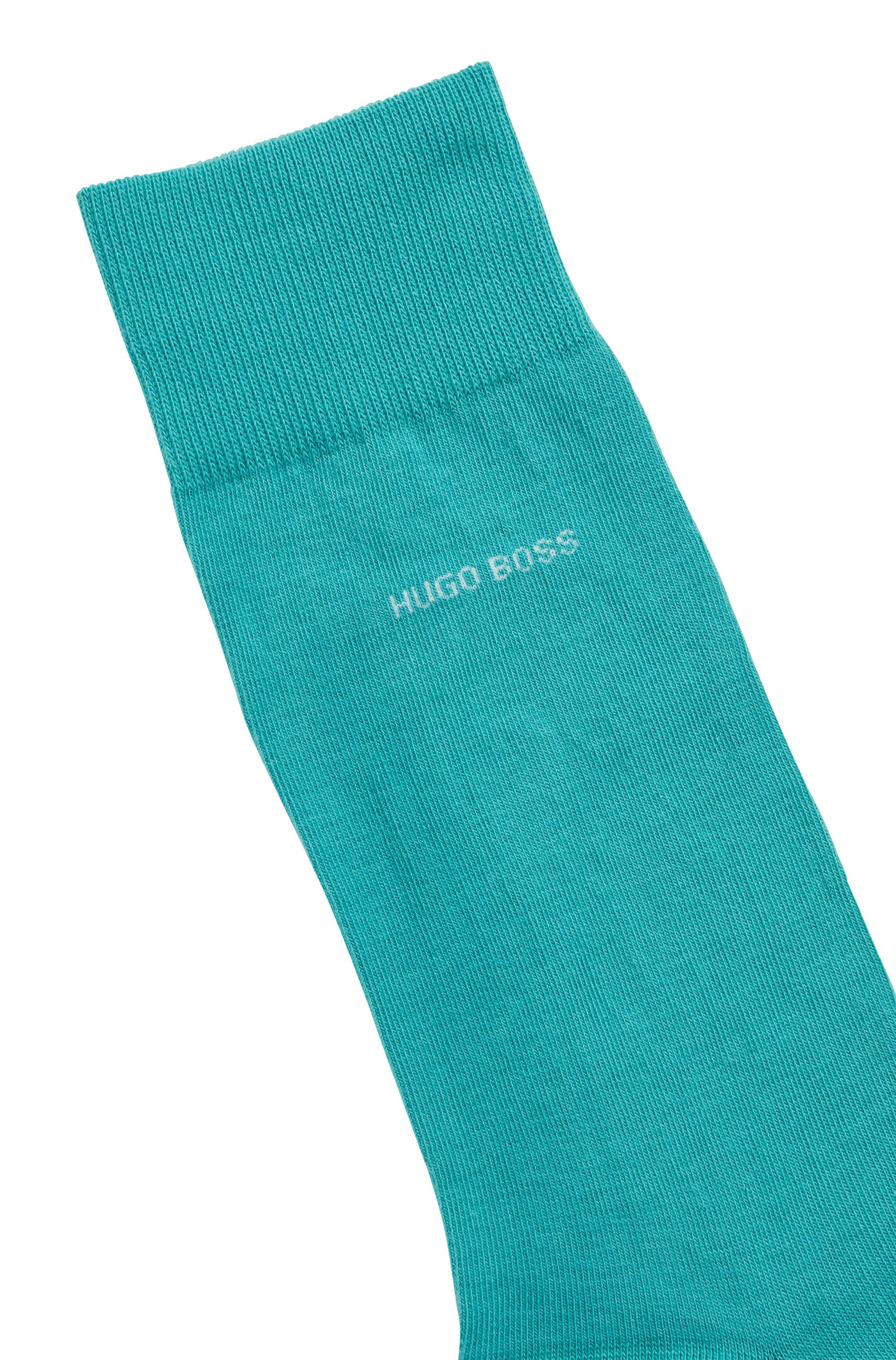 Regular-length socks in combed stretch cotton