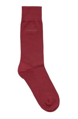 Regular-length socks in combed stretch cotton, Dark Red