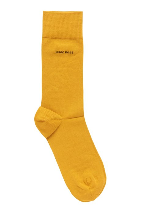 Regular-length socks in combed stretch cotton, Open Yellow