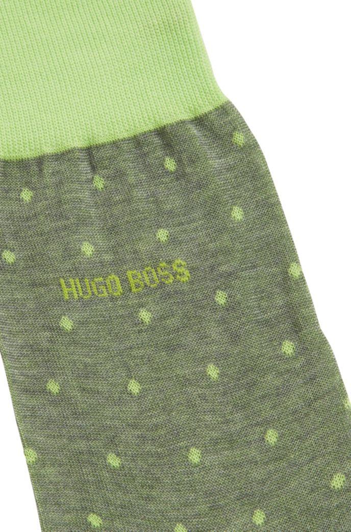 Lightweight socks in mercerised cotton with dot pattern