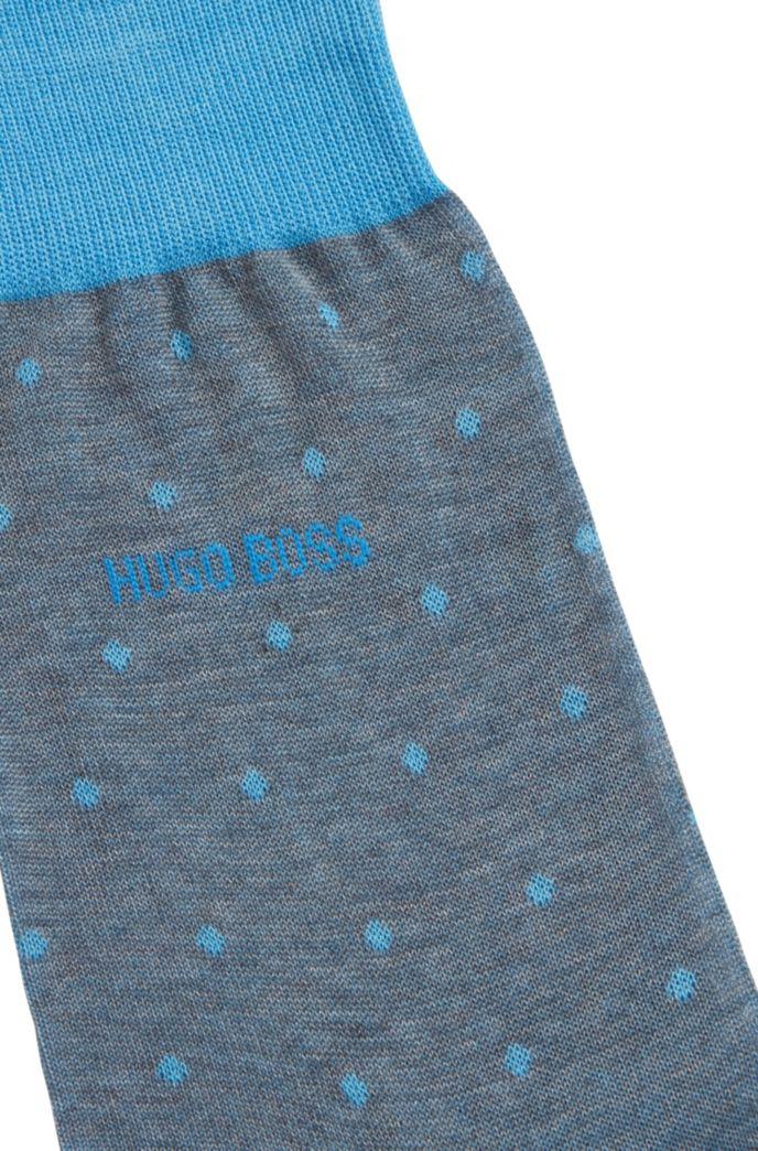 Lichte sokken van gemerceriseerde katoen met stippendessin