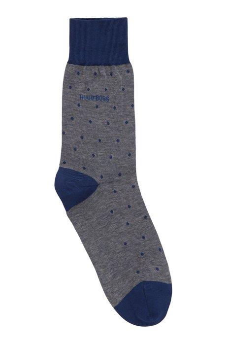 Leichte Socken aus merzerisierter Baumwolle mit Punkten, Hellblau