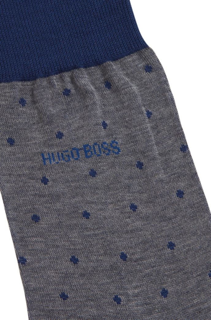 Lightweight socks in mercerised cotton with dot pattern