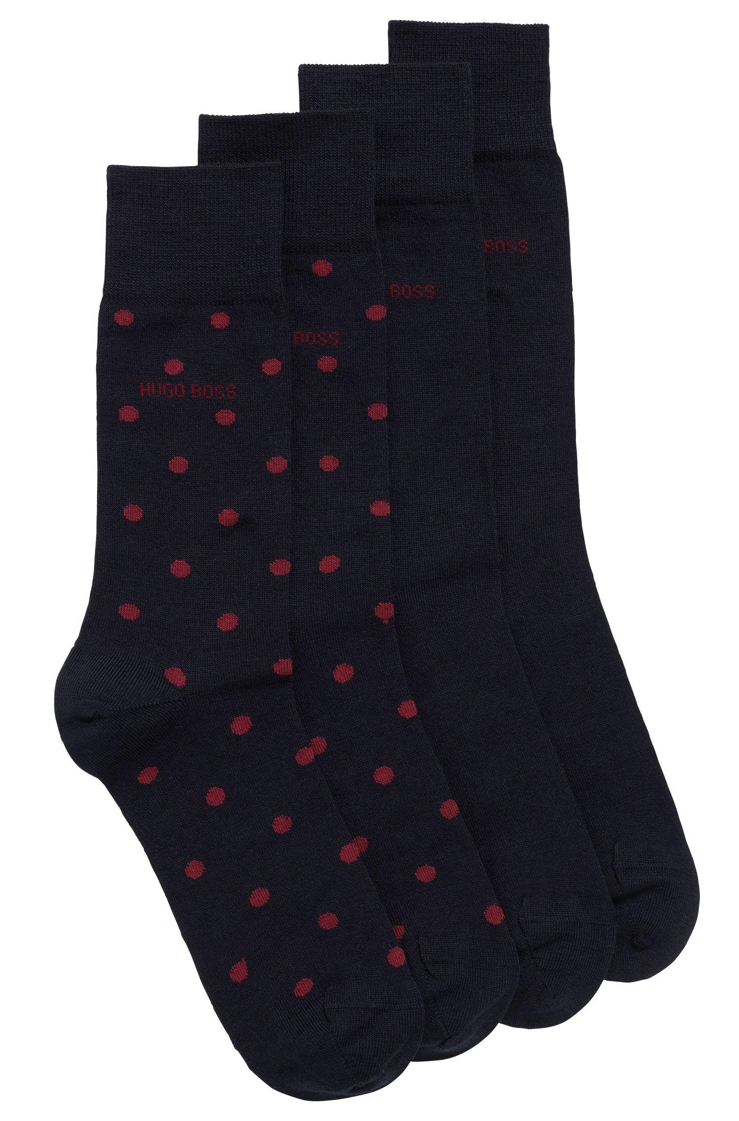 Two-pack of regular-length socks in a Merino wool blend