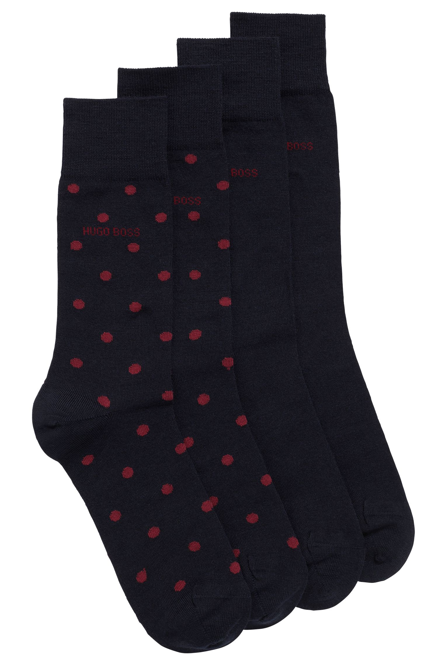 Zweier-Pack mittelhohe Socken aus Merinowoll-Mix, Dunkelblau