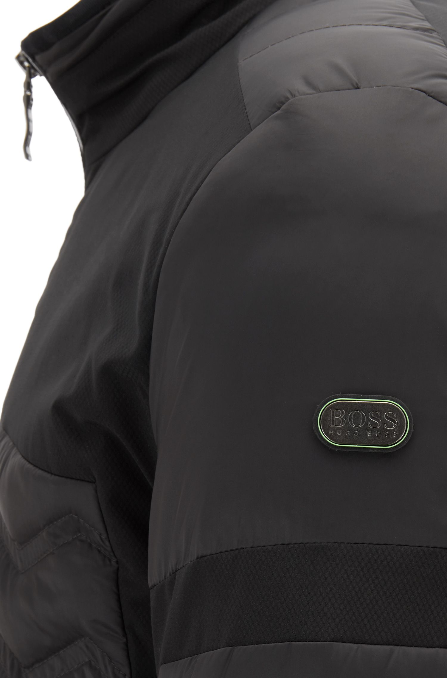 Gesteppte Regular-Fit Daunenjacke aus wasserabweisendem Taft