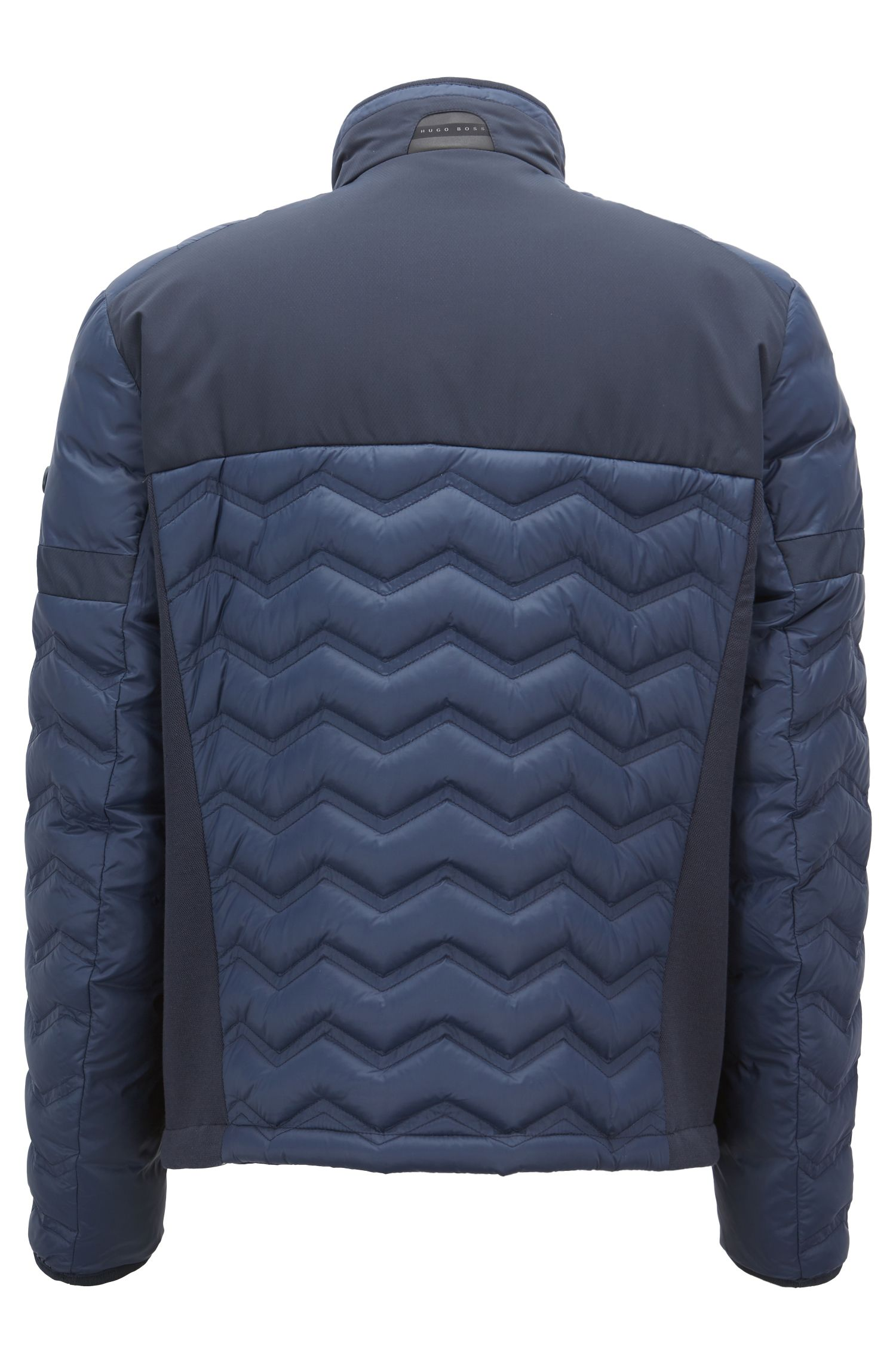 Link2 down jacket in water-repellent quilted taffeta