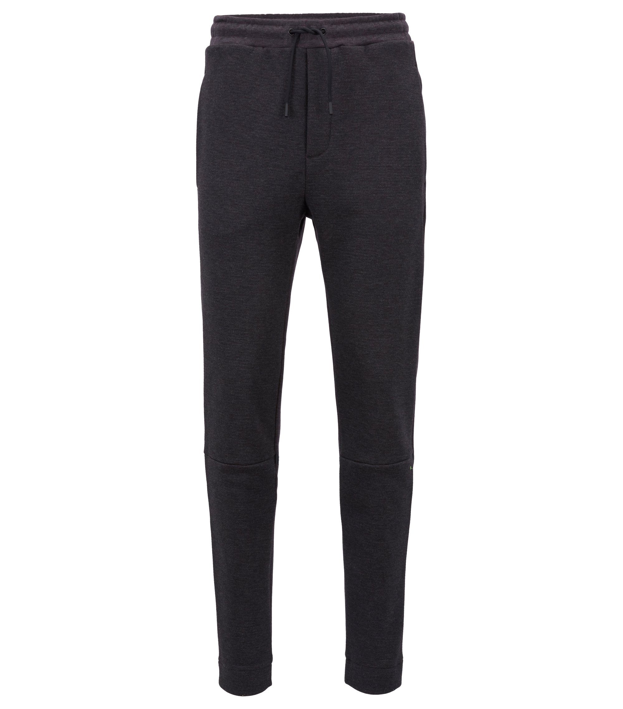 Slim-fit jogging bottoms in a brushed cotton blend, Anthracite