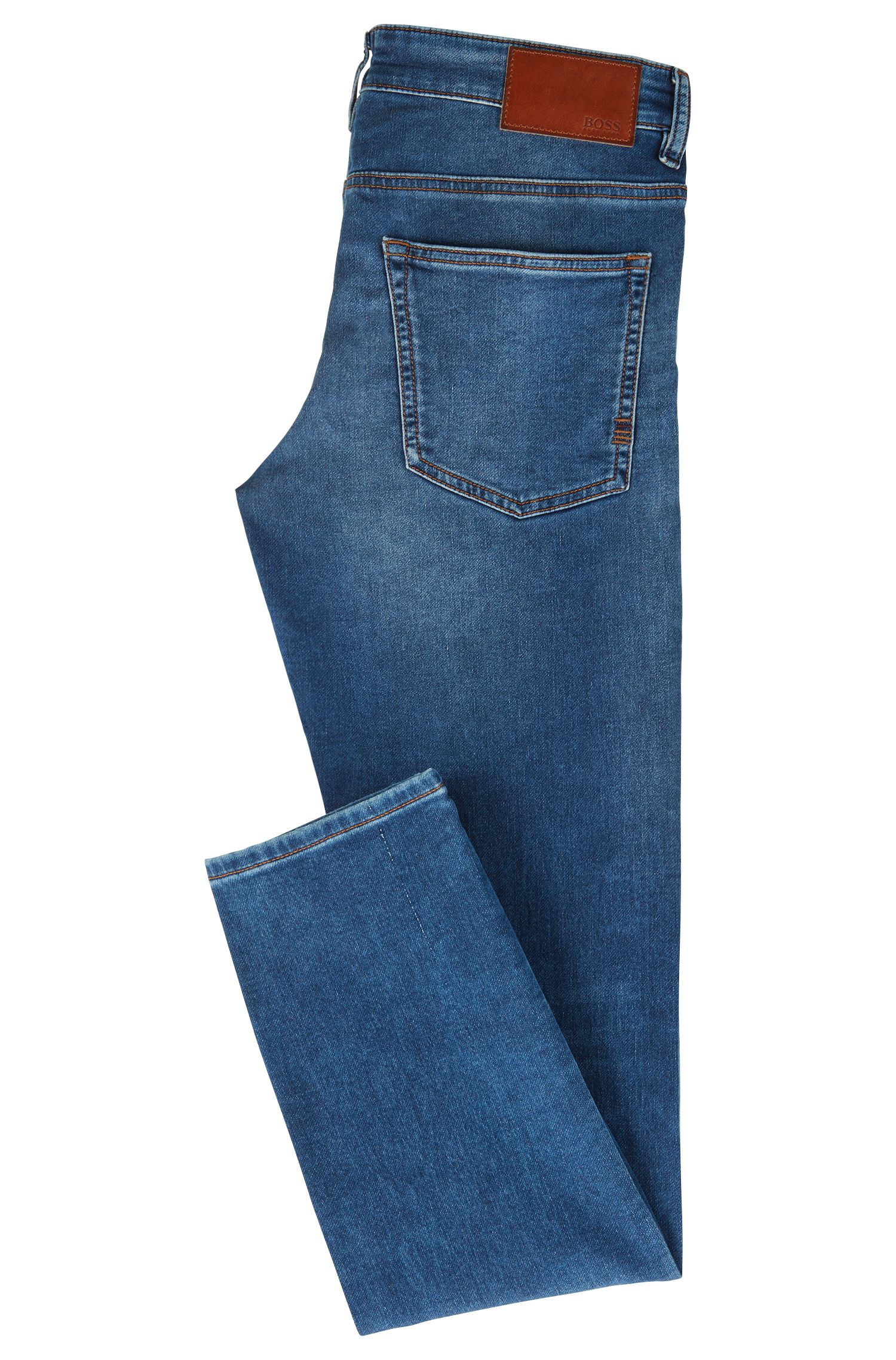 Slim-Fit Jeans aus gestricktem Stretch-Denim