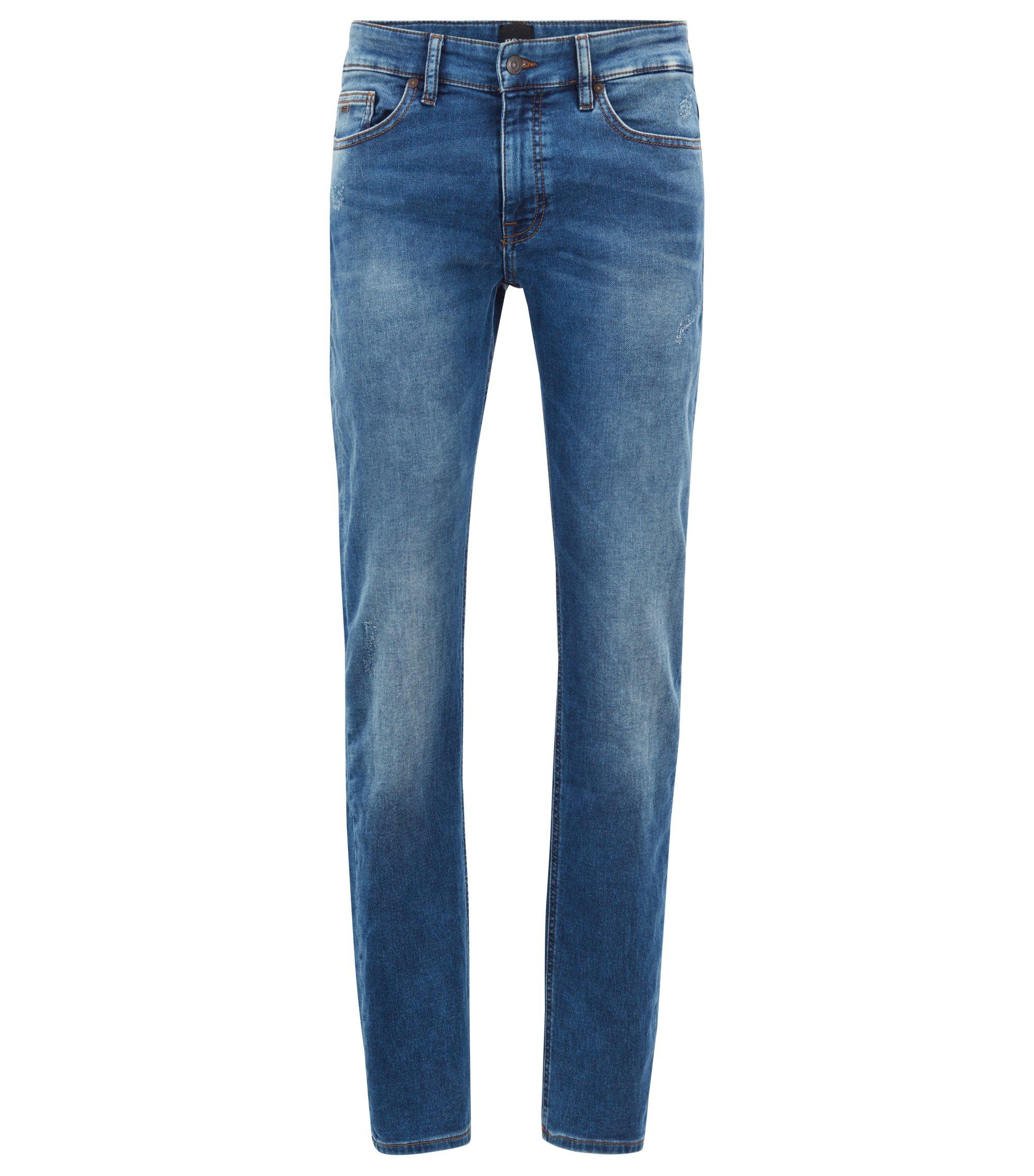 Slim-Fit Jeans aus gestricktem Stretch-Denim , Blau