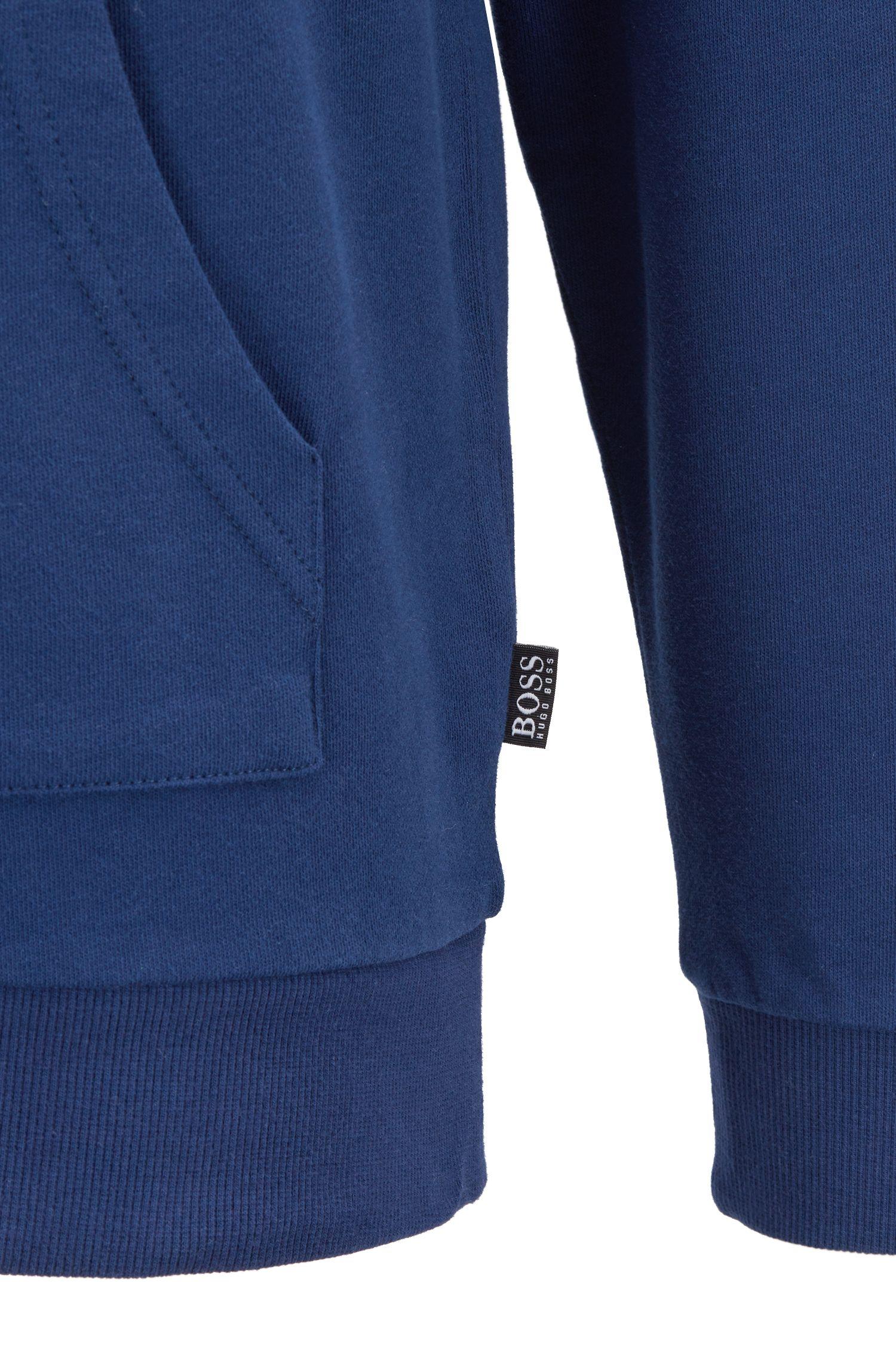 Kapuzen-Sweatshirt aus Baumwolle mit Dégradé-Logo, Dunkelblau