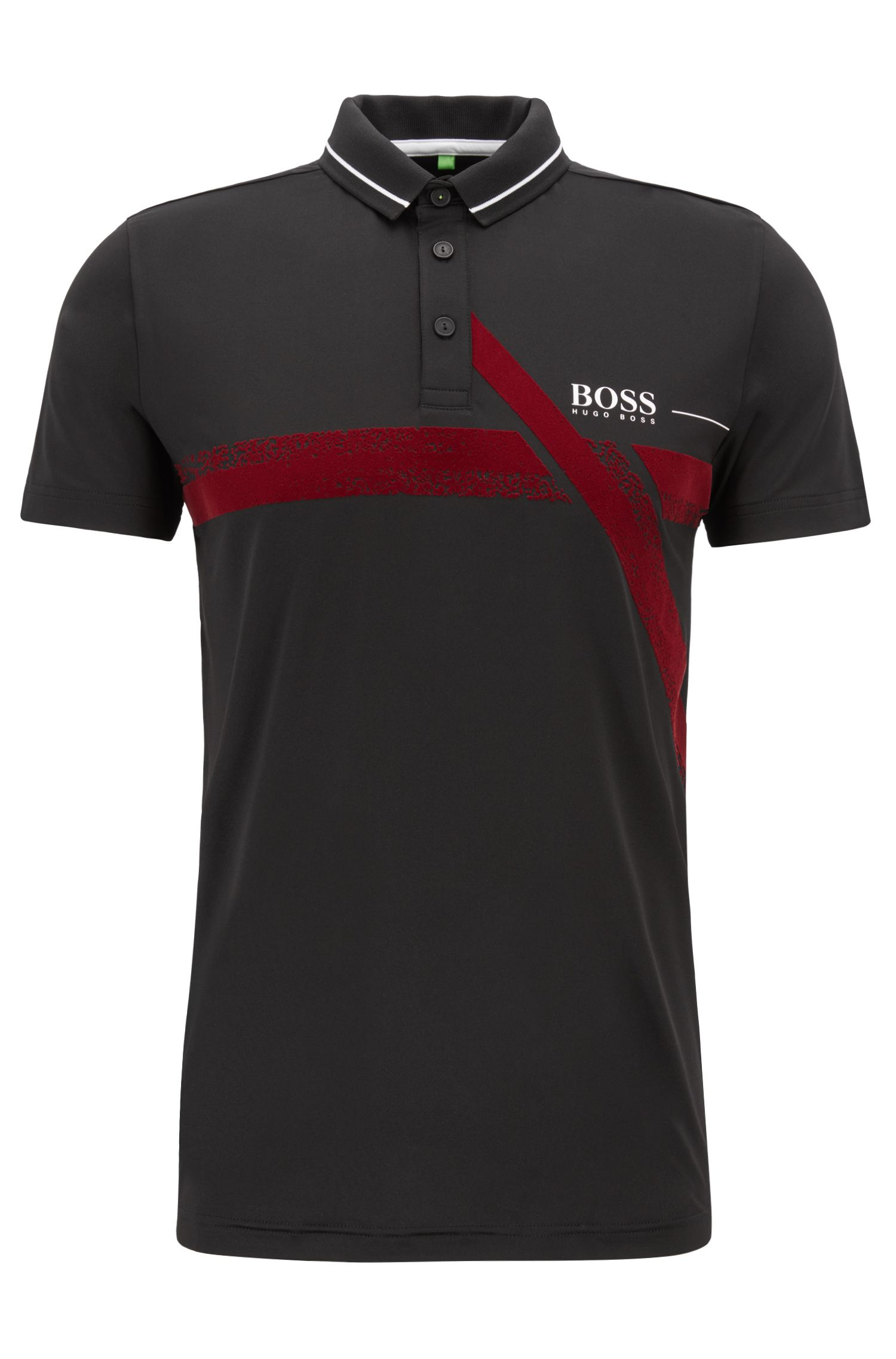 Slim-fit polo shirt with moisture management