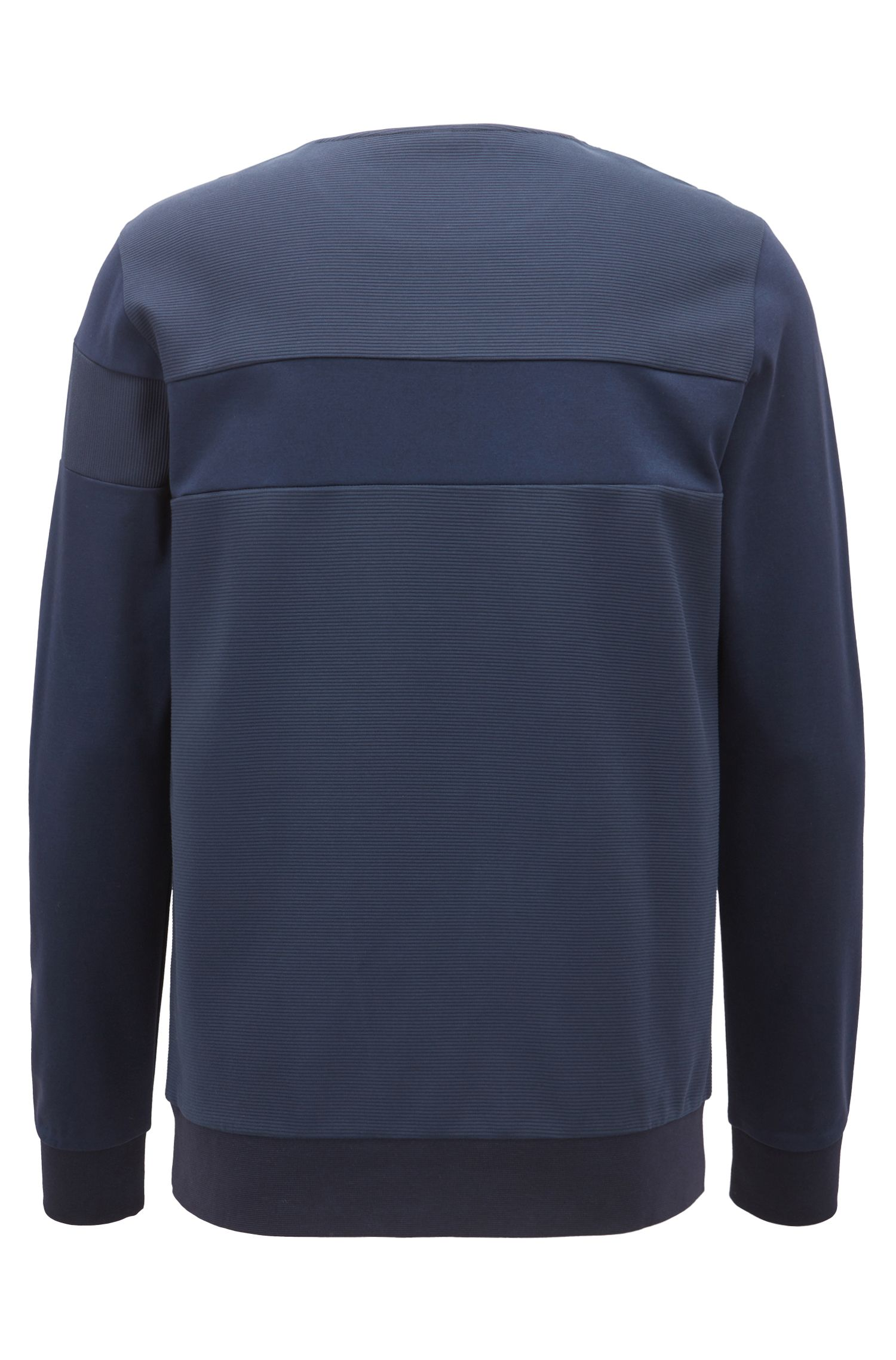 Water-repellent sweatshirt with moisture management and reflective details
