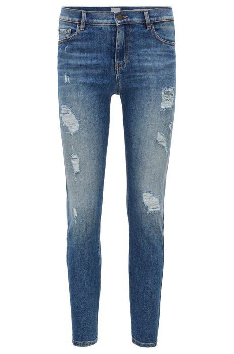 Slim-fit cropped jeans in comfort-stretch denim BOSS naXigJ