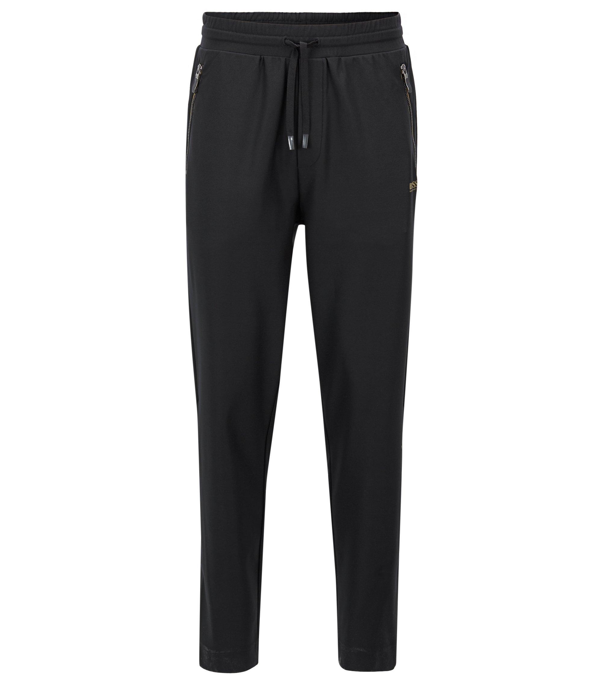 Slim-Fit Hose aus elastischem Jersey mit S.Café®-Fasern, Schwarz