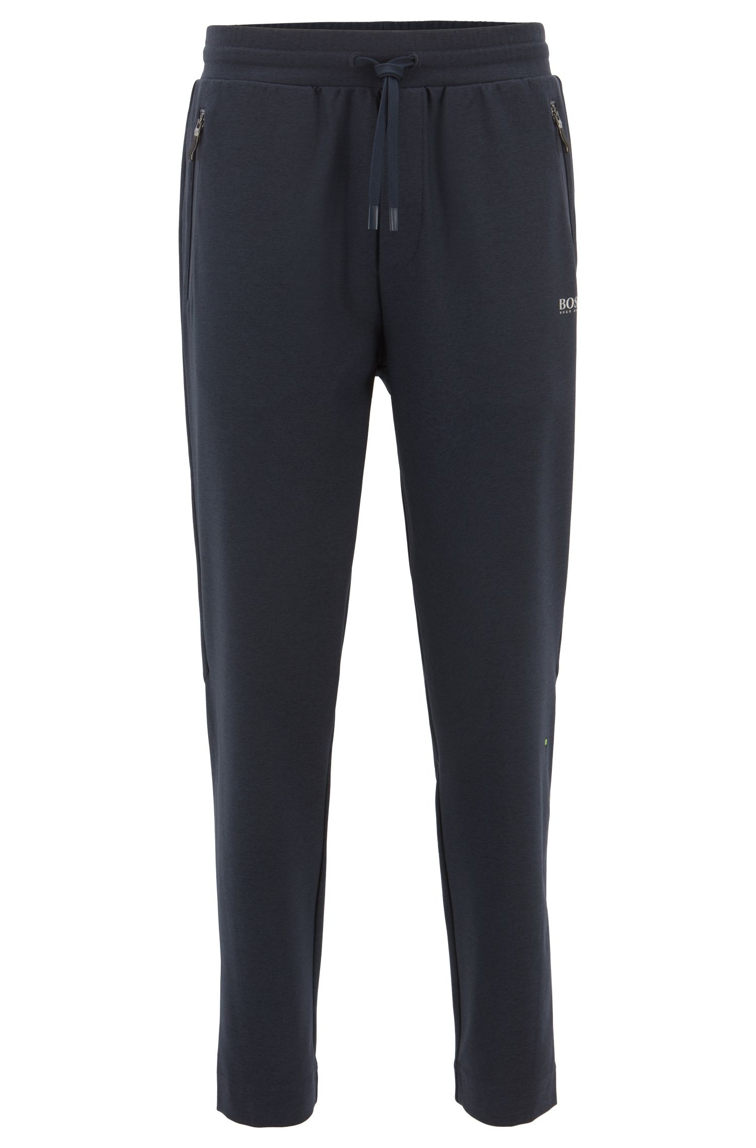 Slim-fit jersey trousers in stretch fabric with S.Café®, Dark Blue