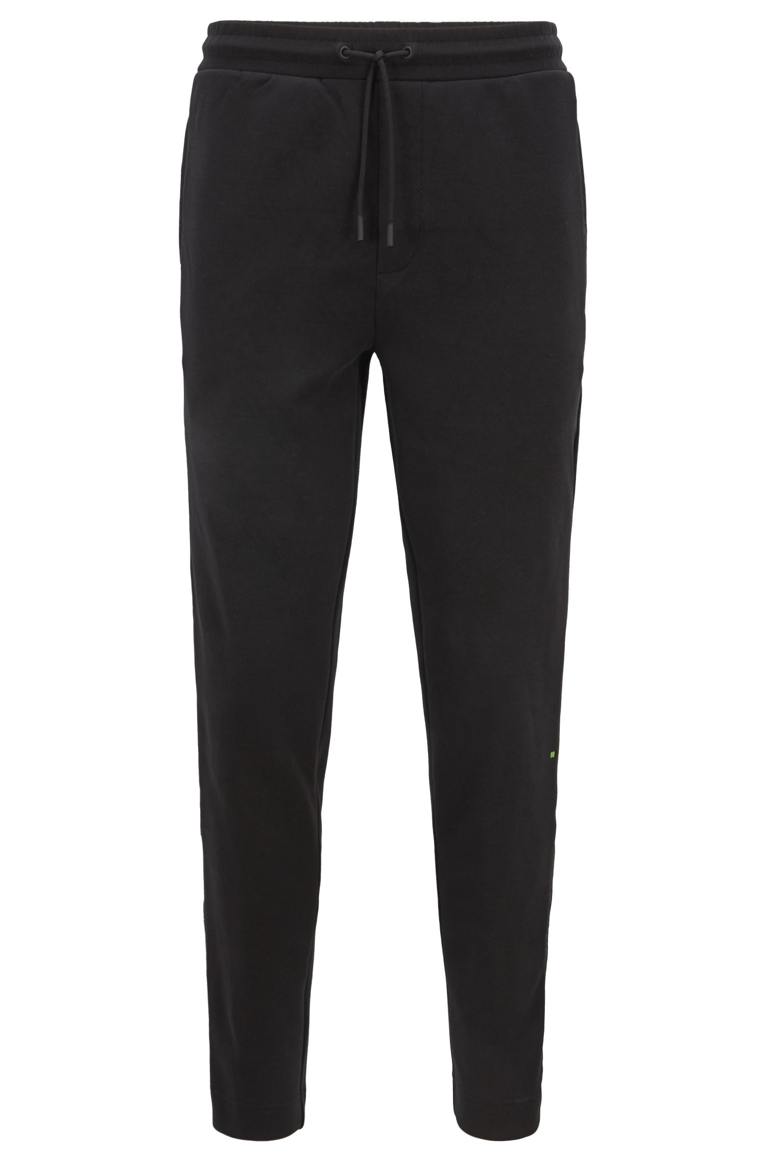Slim-fit jogging bottoms with tonal side seams, Black