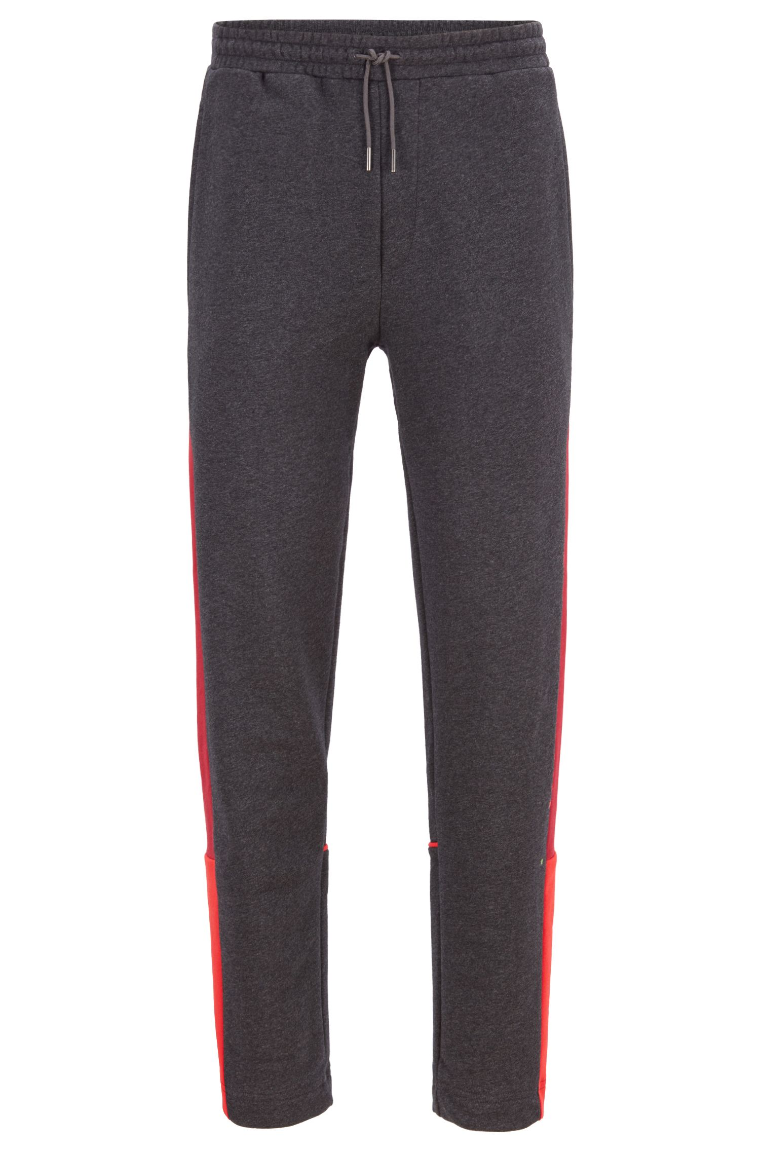 Pantaloni da jogging a blocchi di colore in french terry, Grigio antracite