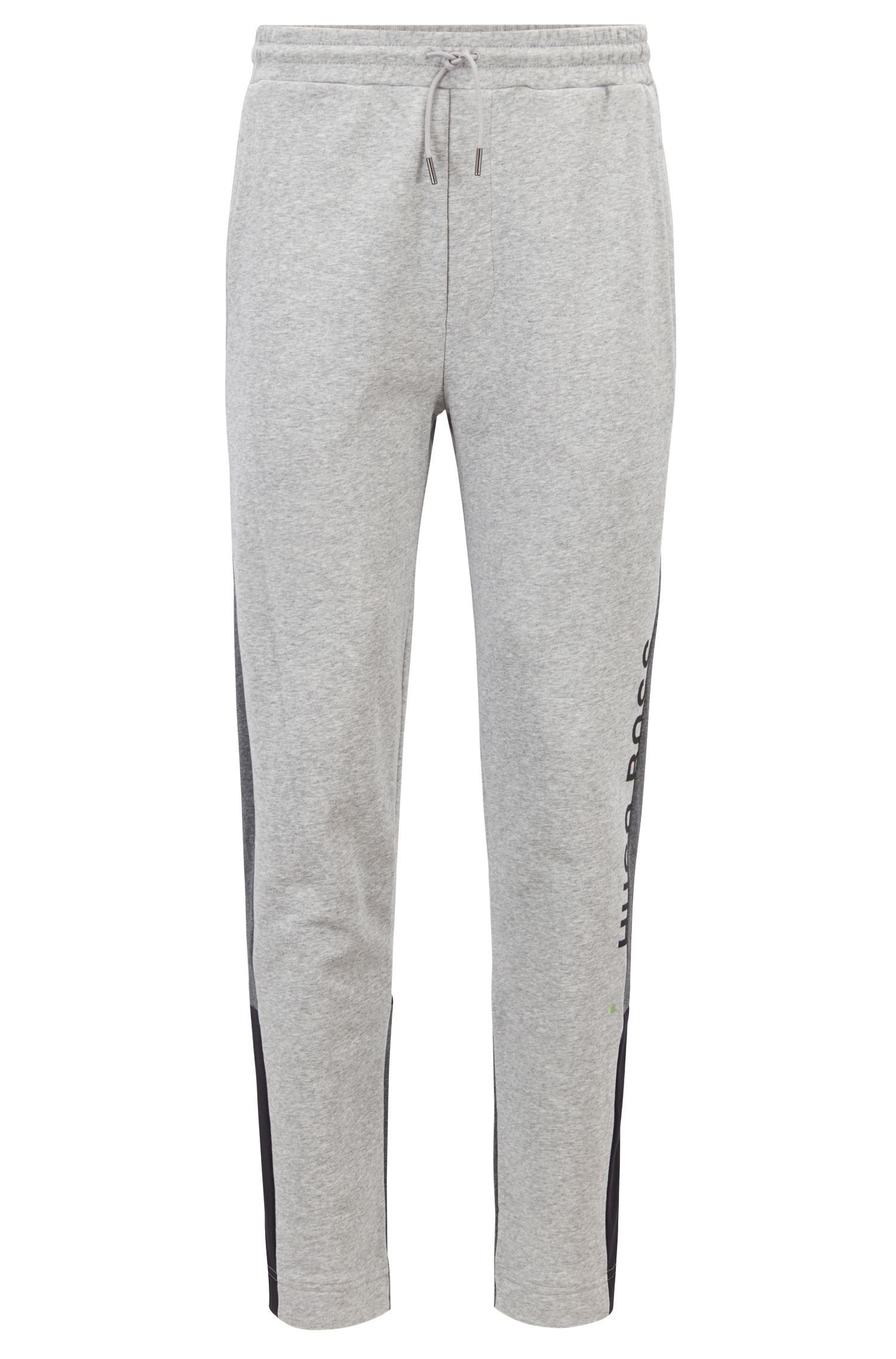 Pantalon de jogging color block en molleton French Terry, Gris chiné