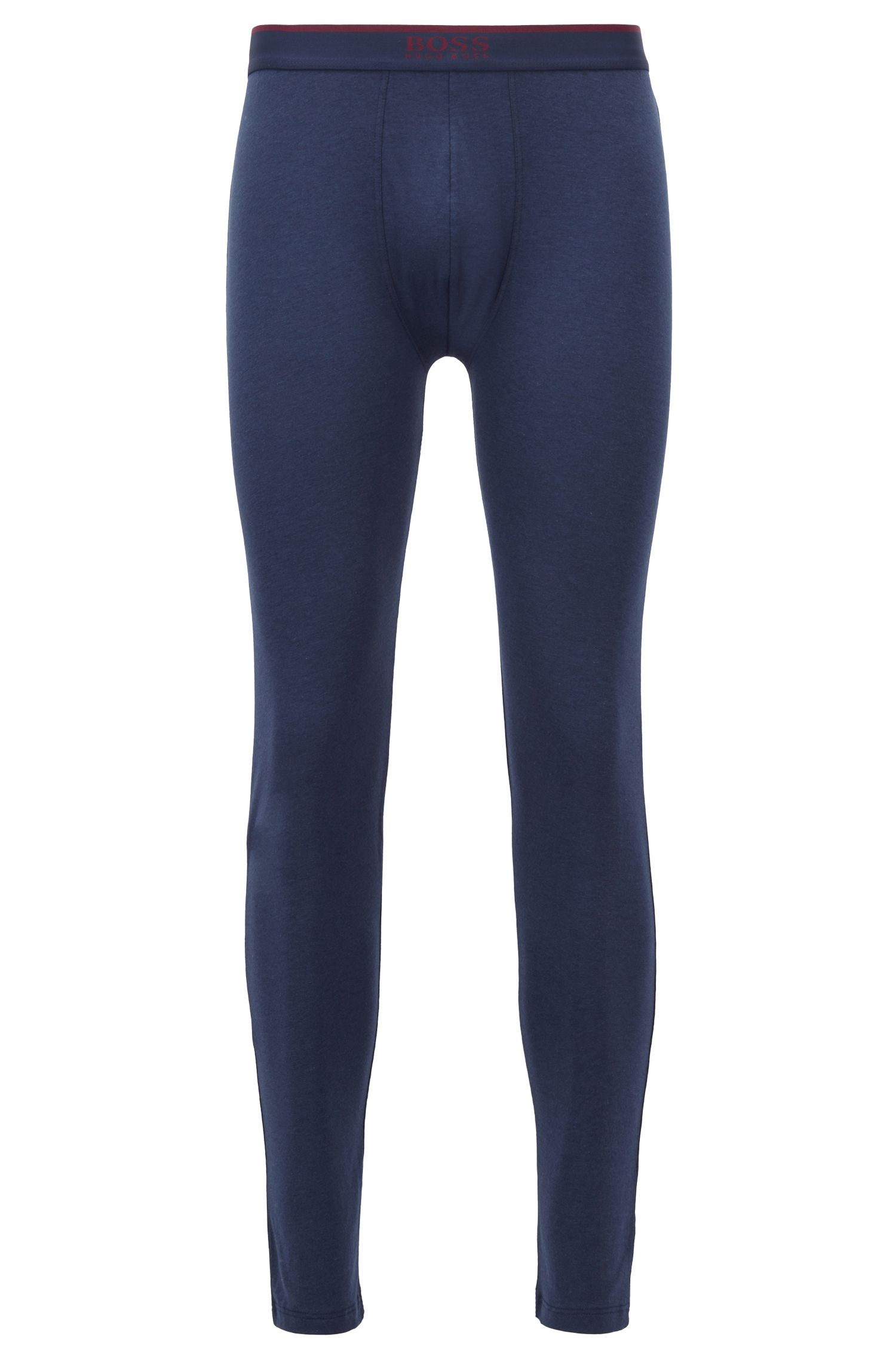Long johns with logo waistband and double-layered crotch, Dark Blue