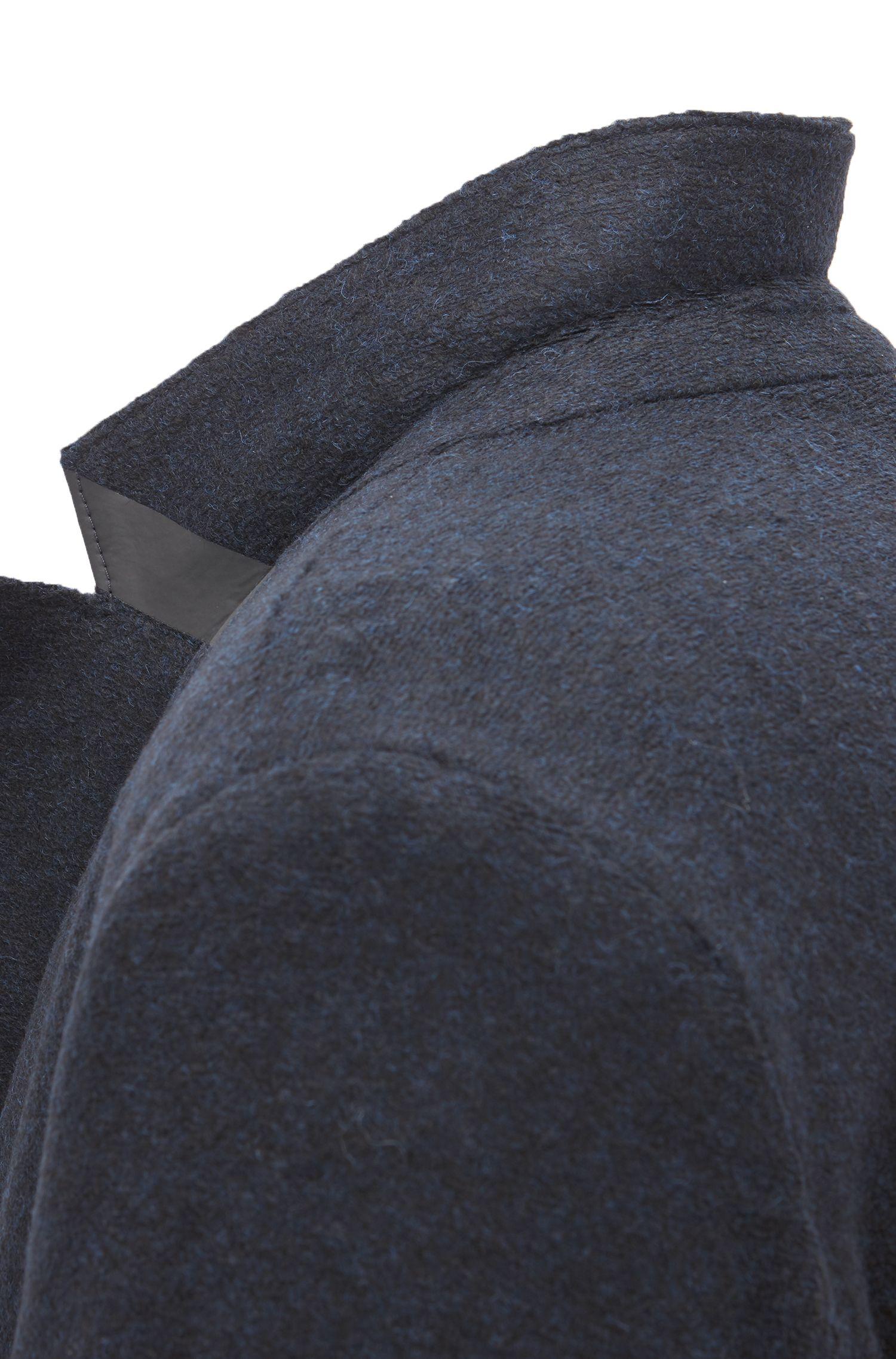 Blazer in een normaal model van Italiaans vervilt materiaal, Donkerblauw