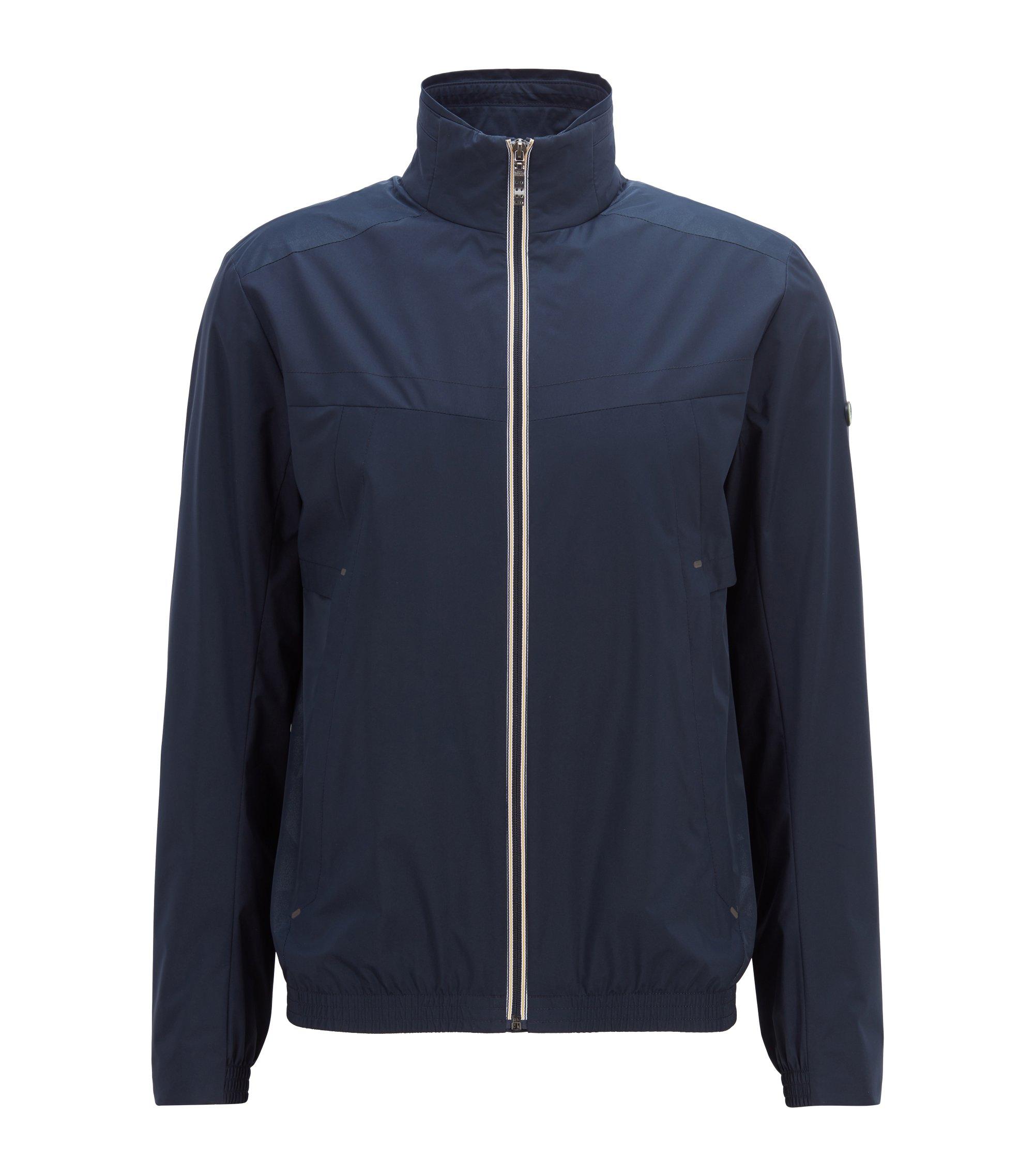 Waterdichte jas van dubbellaags, zacht, gelamineerd materiaal, Donkerblauw