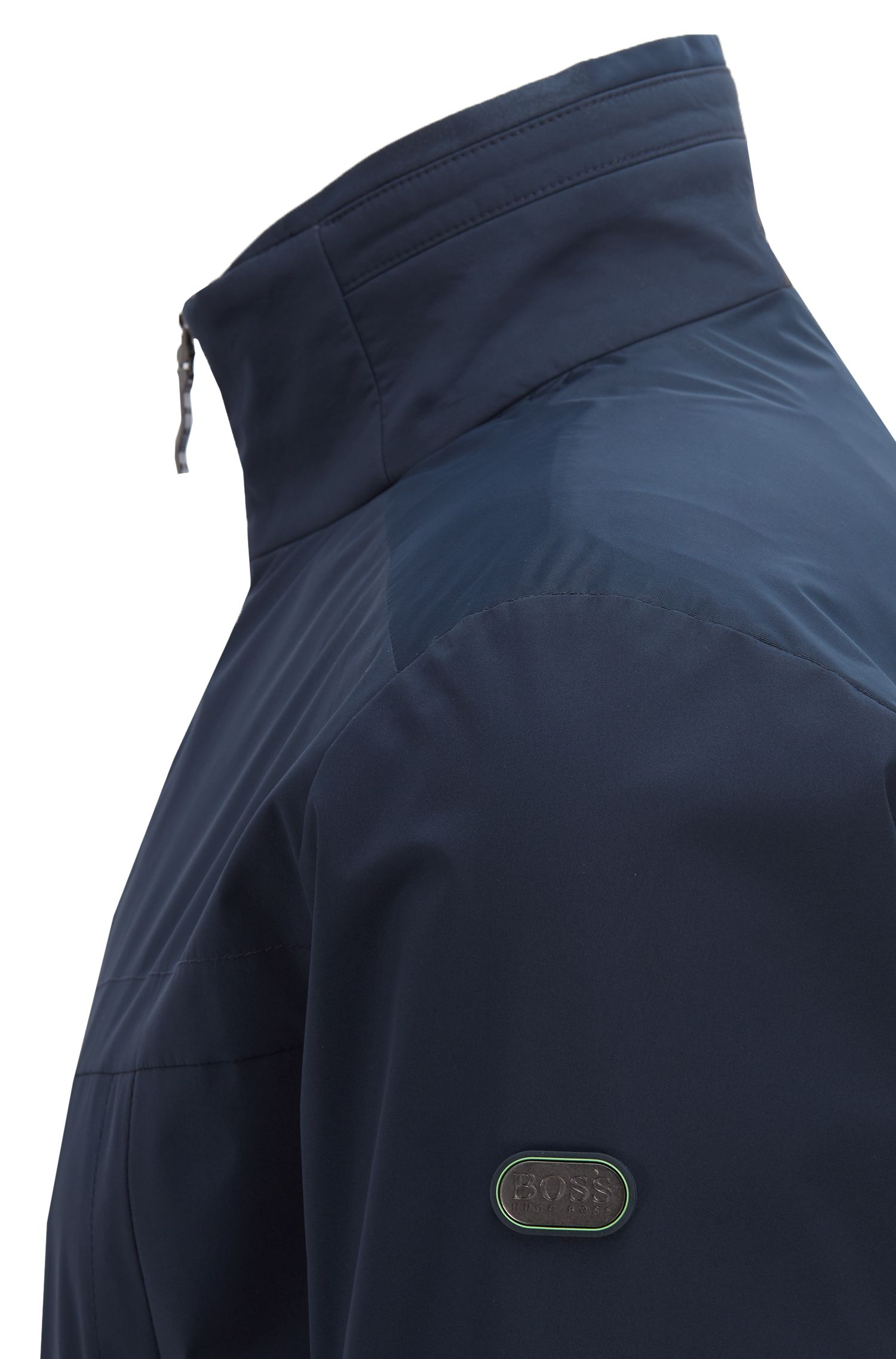 Waterproof jacket in two-layer soft-touch laminated fabric, Dark Blue