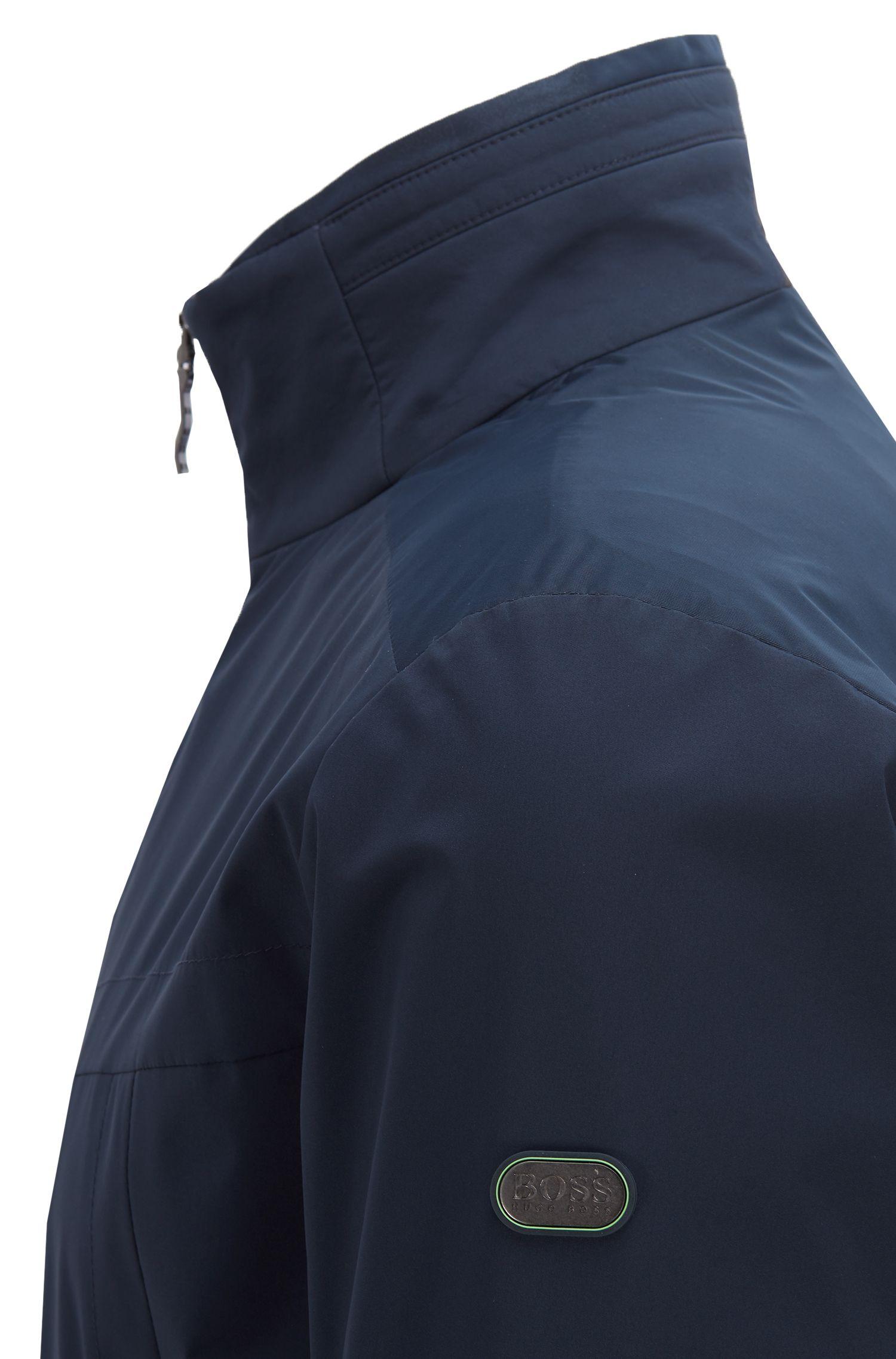 Giacca impermeabile in tessuto laminato a due strati morbido al tatto, Blu scuro