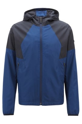 29bac60e2 Waterproof jacket with electromagnetic-wave blocker and hood, Dark Blue