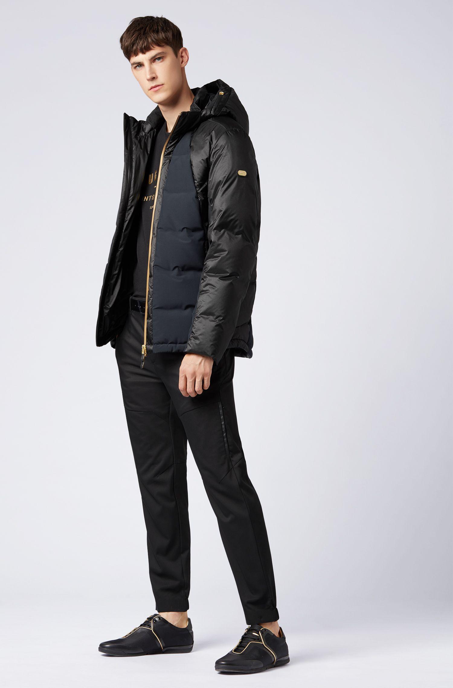 Gold Capsule down-filled water-repellent jacket, Black