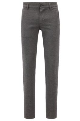 Slim Fit Chinos In Overdyed Stretch Twill by Boss