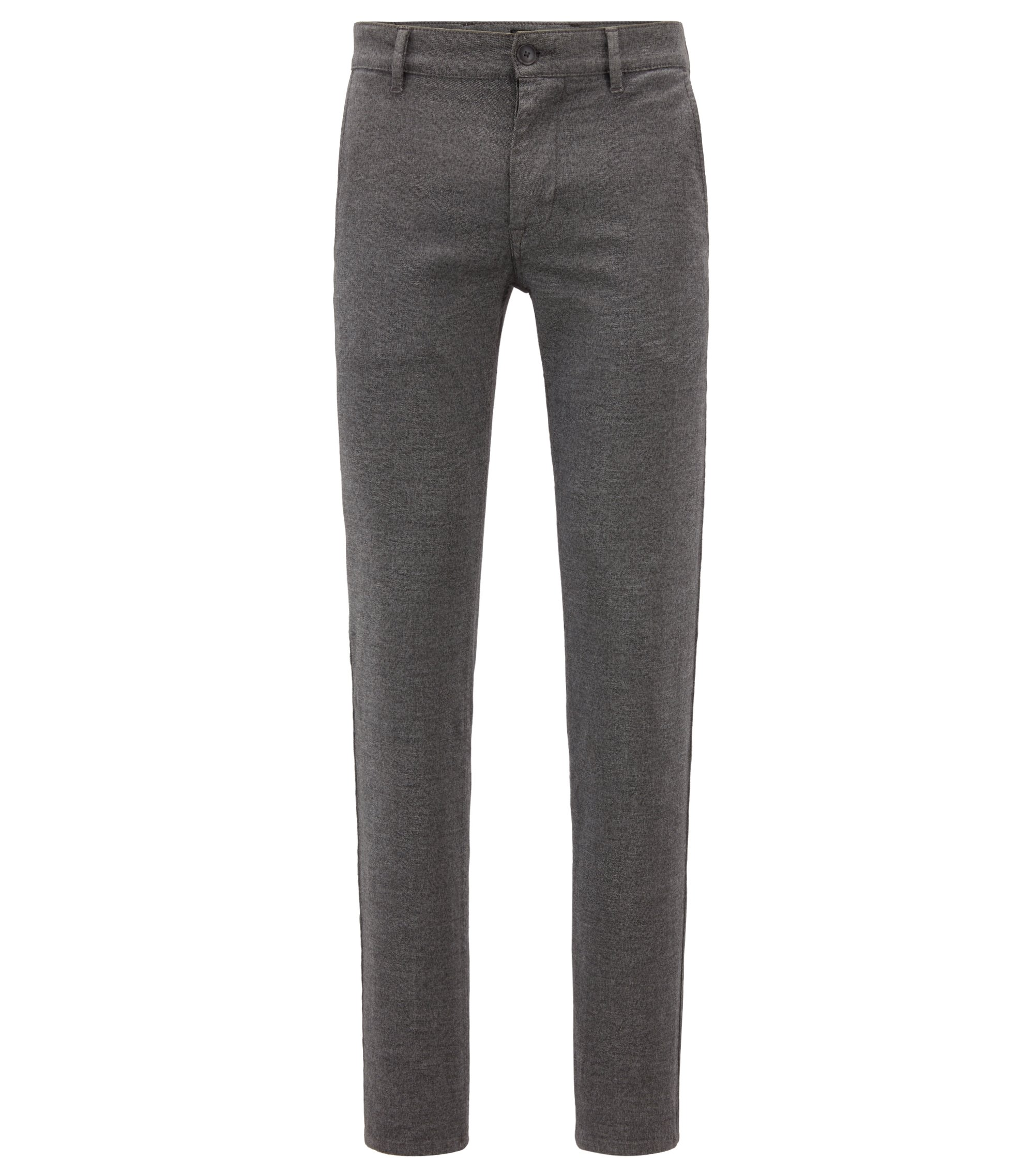 Chino Slim Fit en twill stretch surteint, Gris chiné