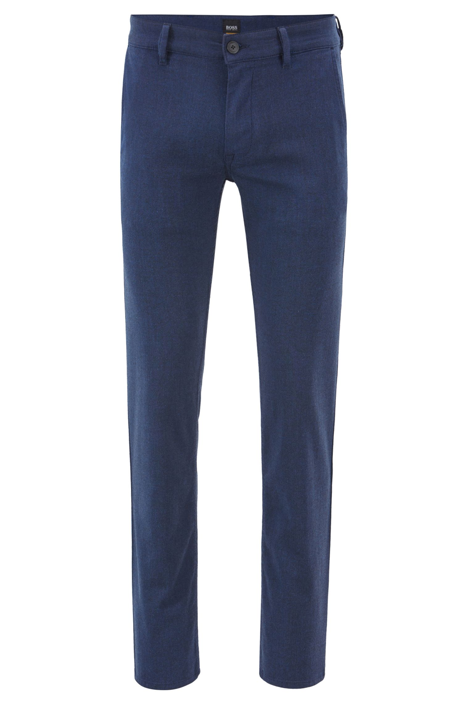 Slim-Fit Chino aus überfärbtem Stretch-Twill