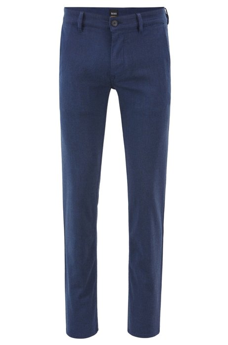 42bf54363 BOSS - Slim-fit chinos in overdyed stretch twill
