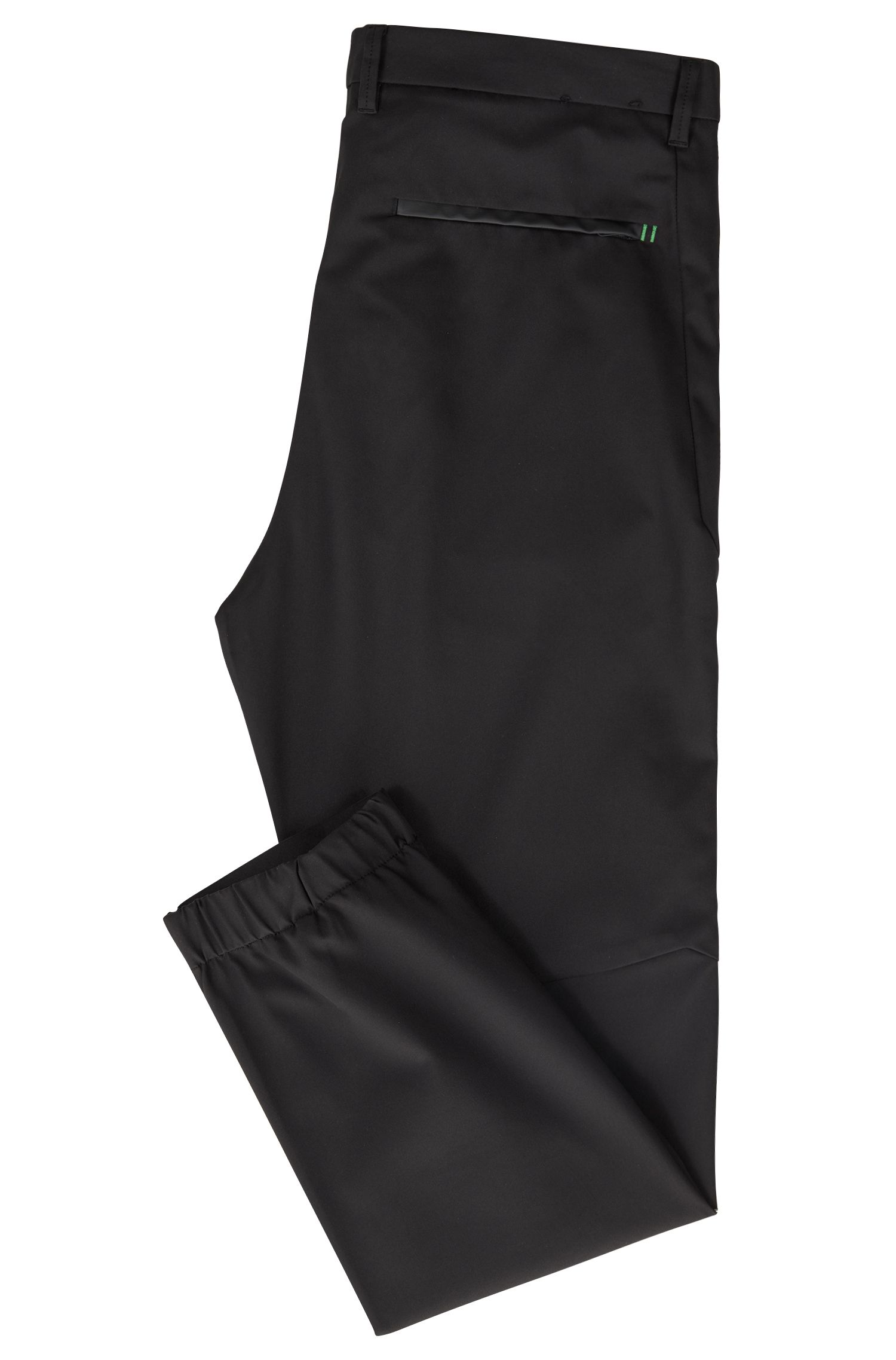 Cuffed trousers in water-repellent four-way-stretch twill