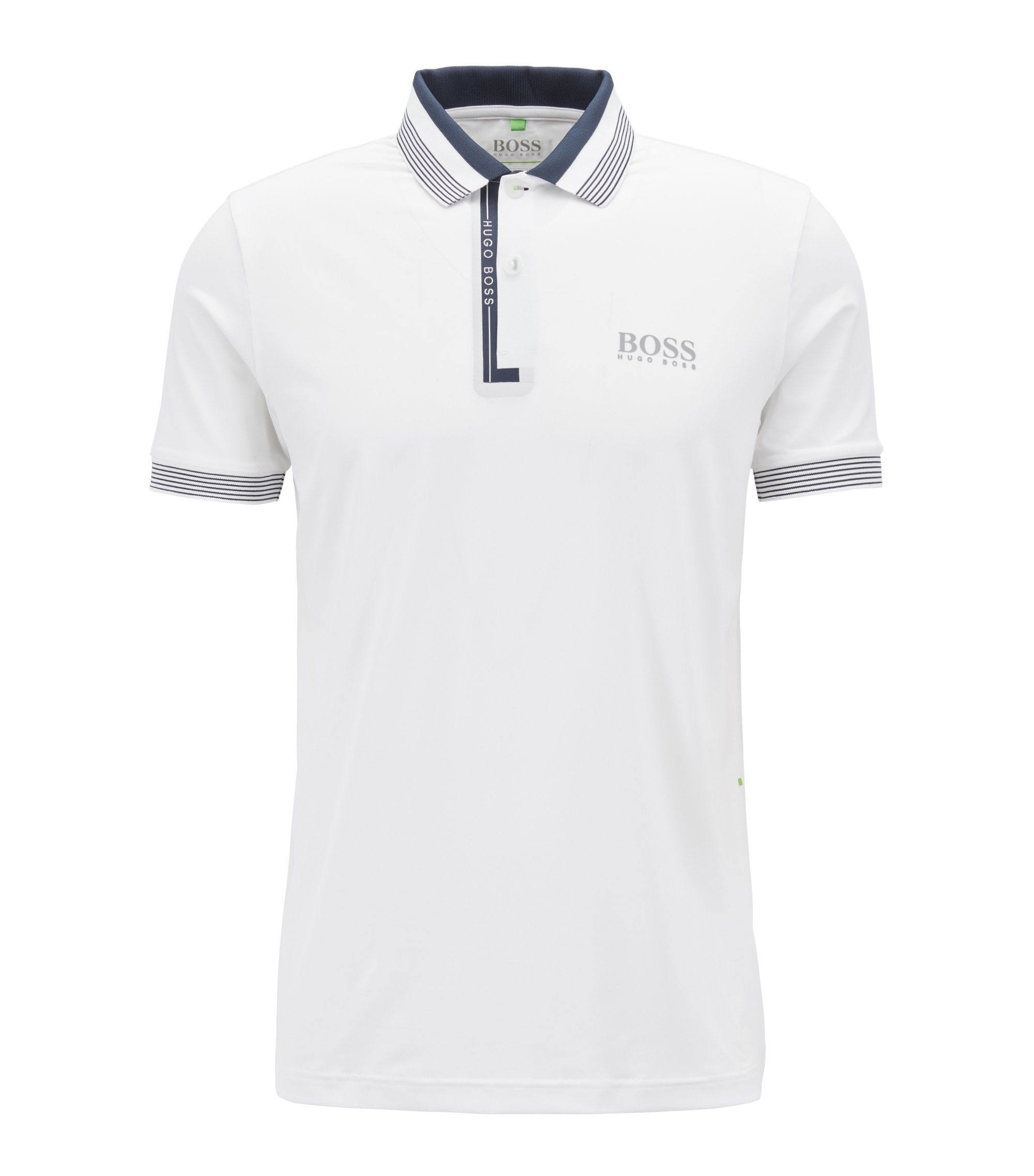 Regular-fit polo shirt with moisture management, White