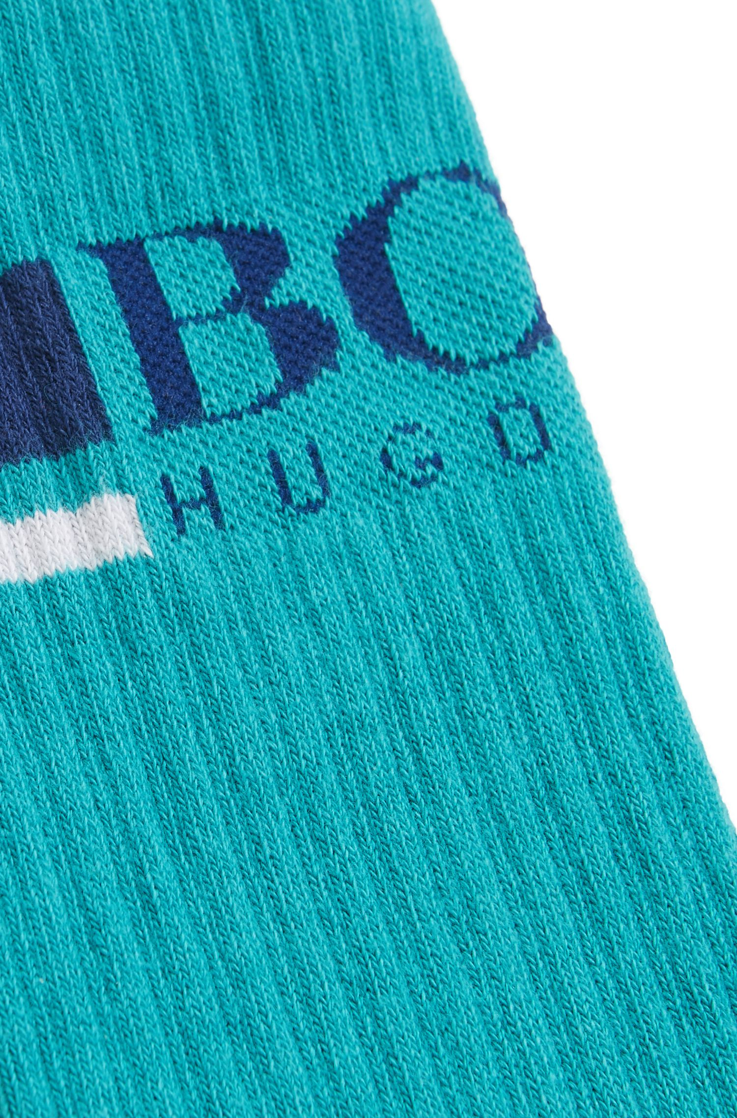 Regular-length socks in a stretch cotton blend, Green