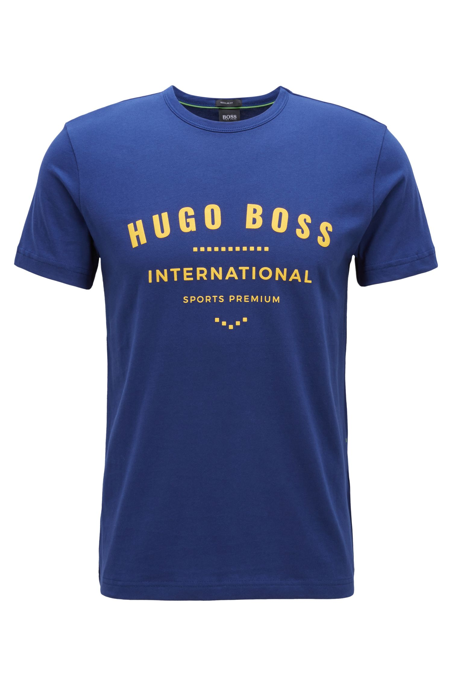 T-shirt ras-du-cou en coton à motif arty métallisé