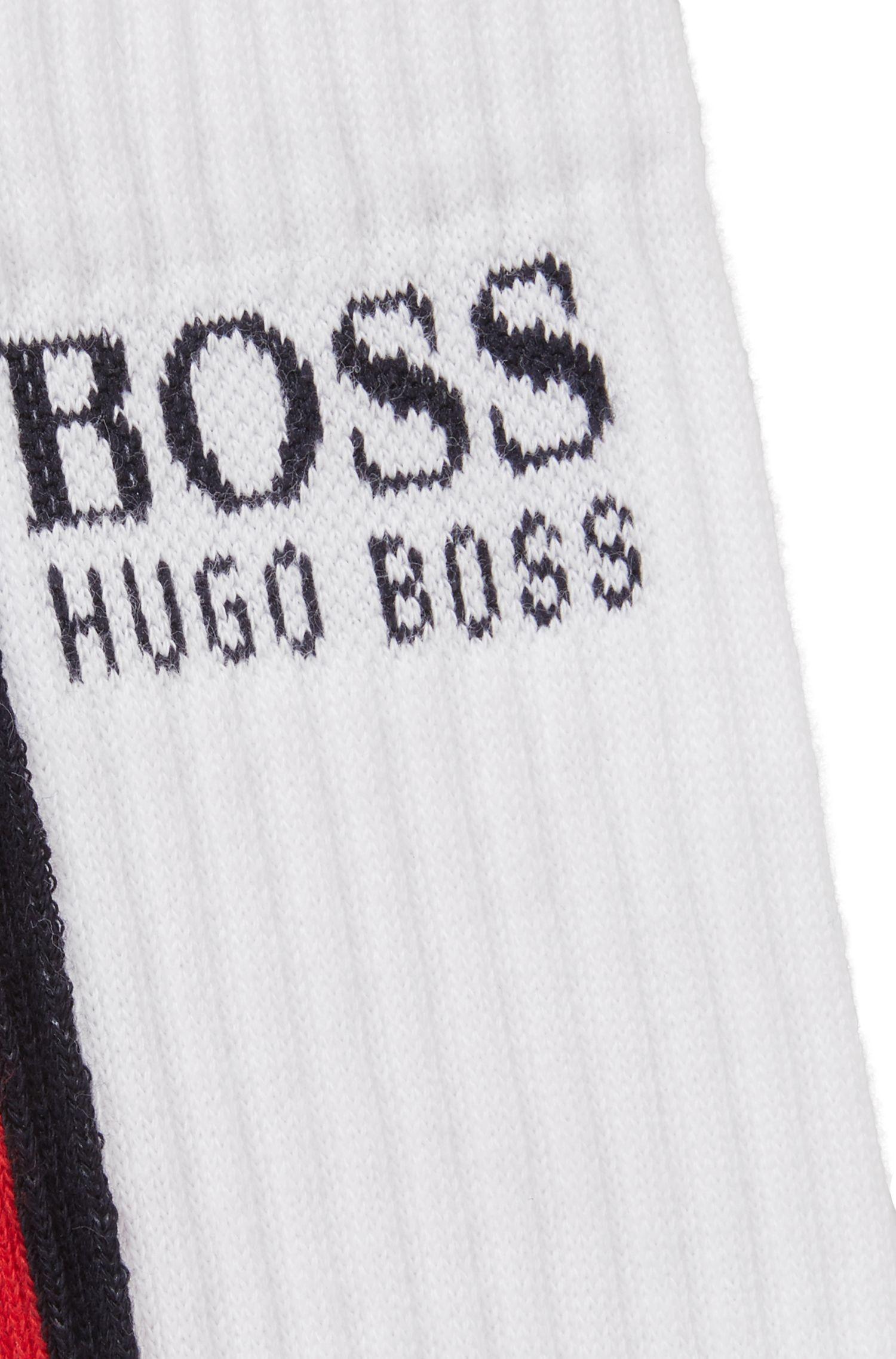 Gestreifte Socken aus elastischem Baumwoll-Mix