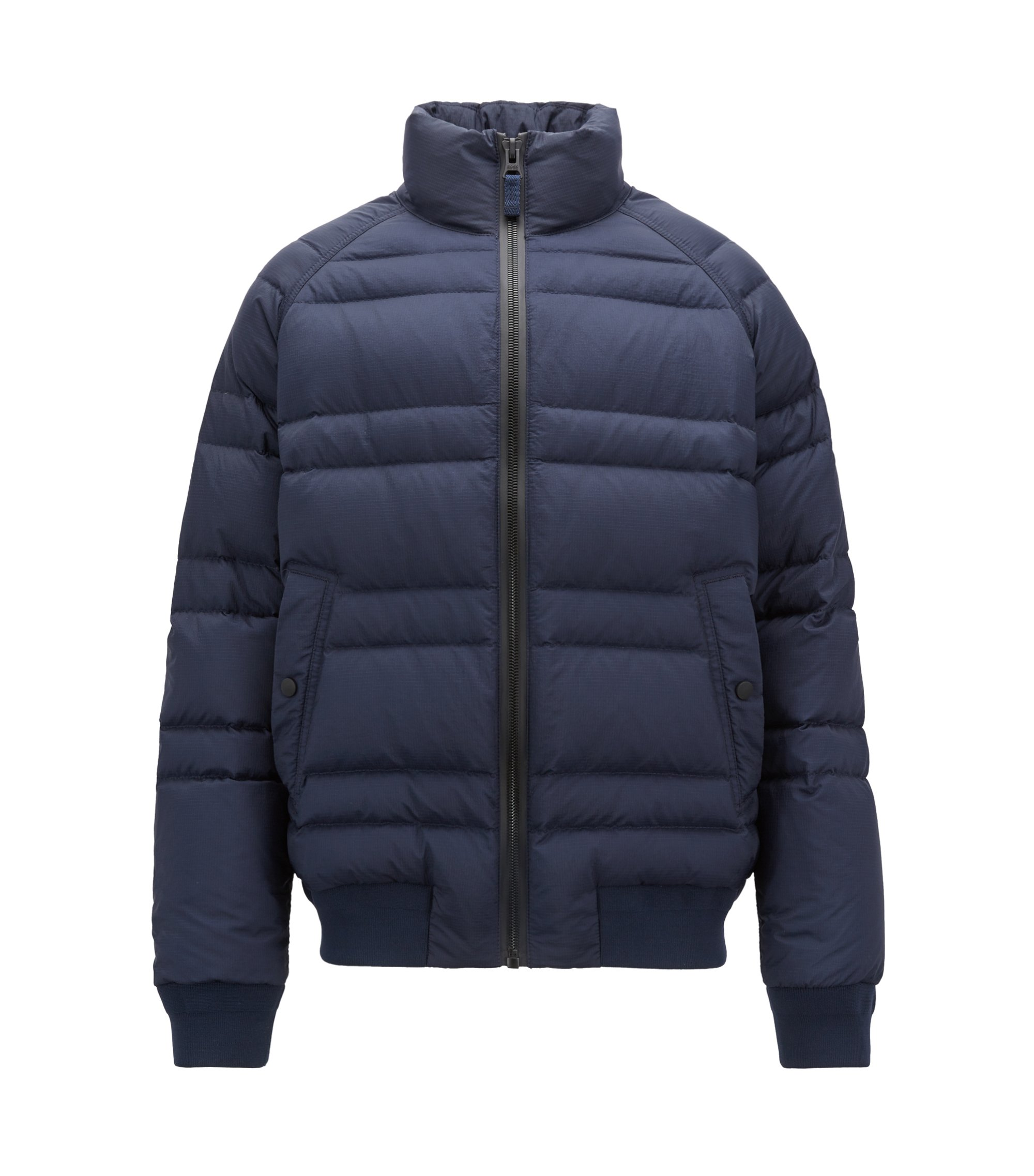 Down jacket in water-repellent ripstop fabric, Dark Blue