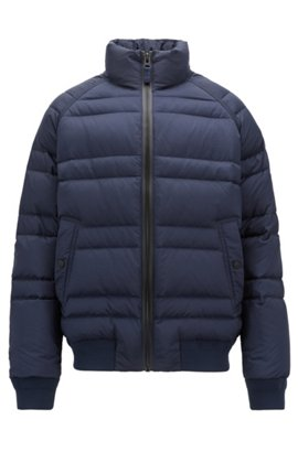 c4645b8514a2 Hugo Boss Jeer Down Coat Blue  cheapest price 78e91 48223 Down jacket in  water-repellent ripstop fabric
