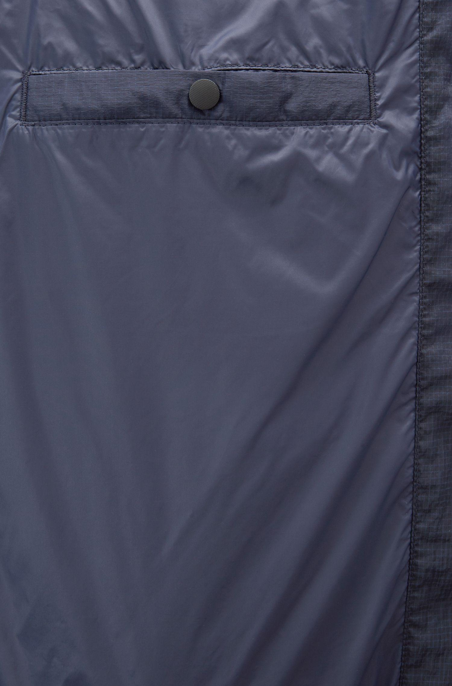 Donsjas van waterafstotend ripstopmateriaal, Donkerblauw