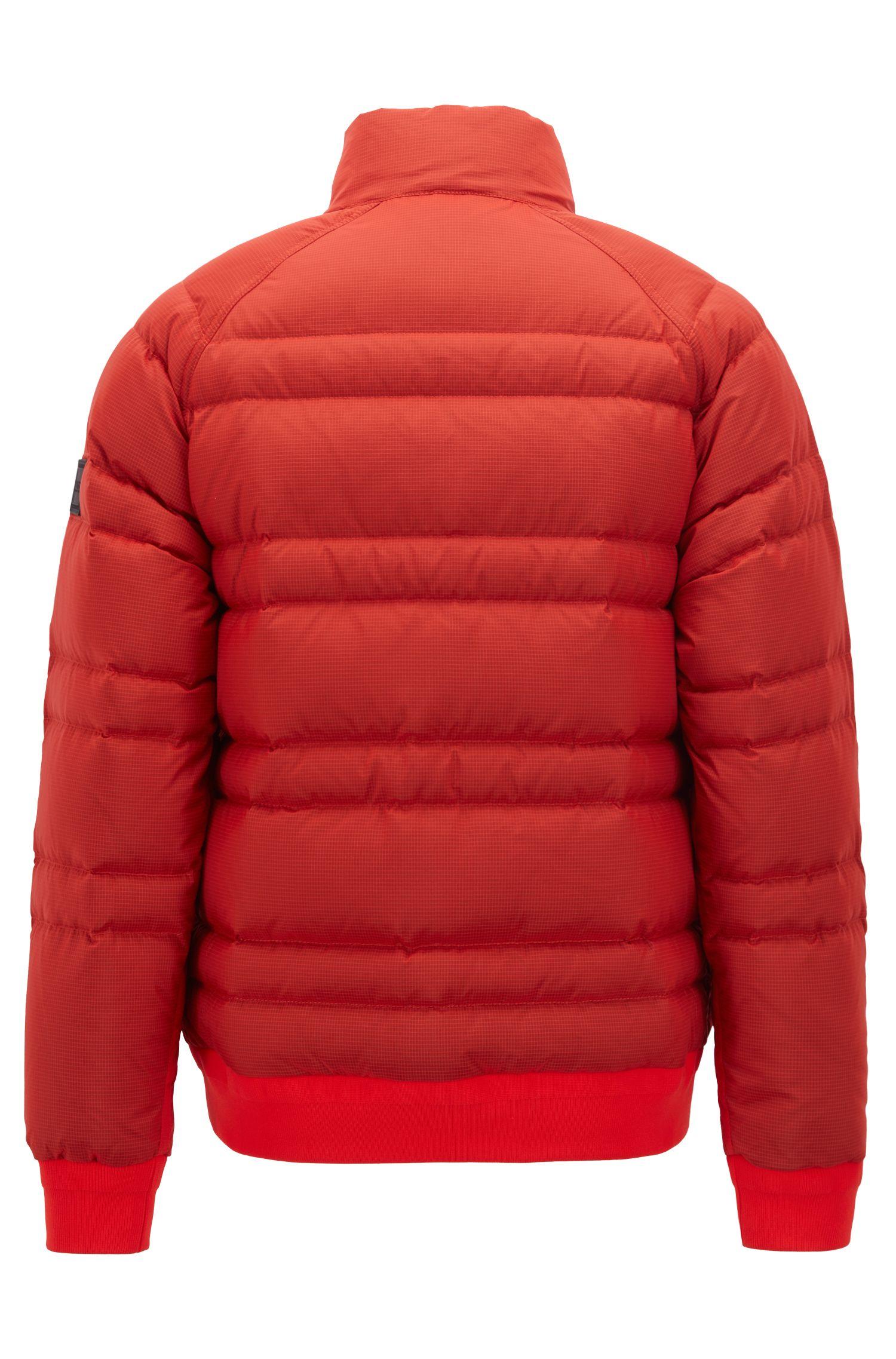 Daunenjacke aus wasserabweisendem Ripstop, Rot