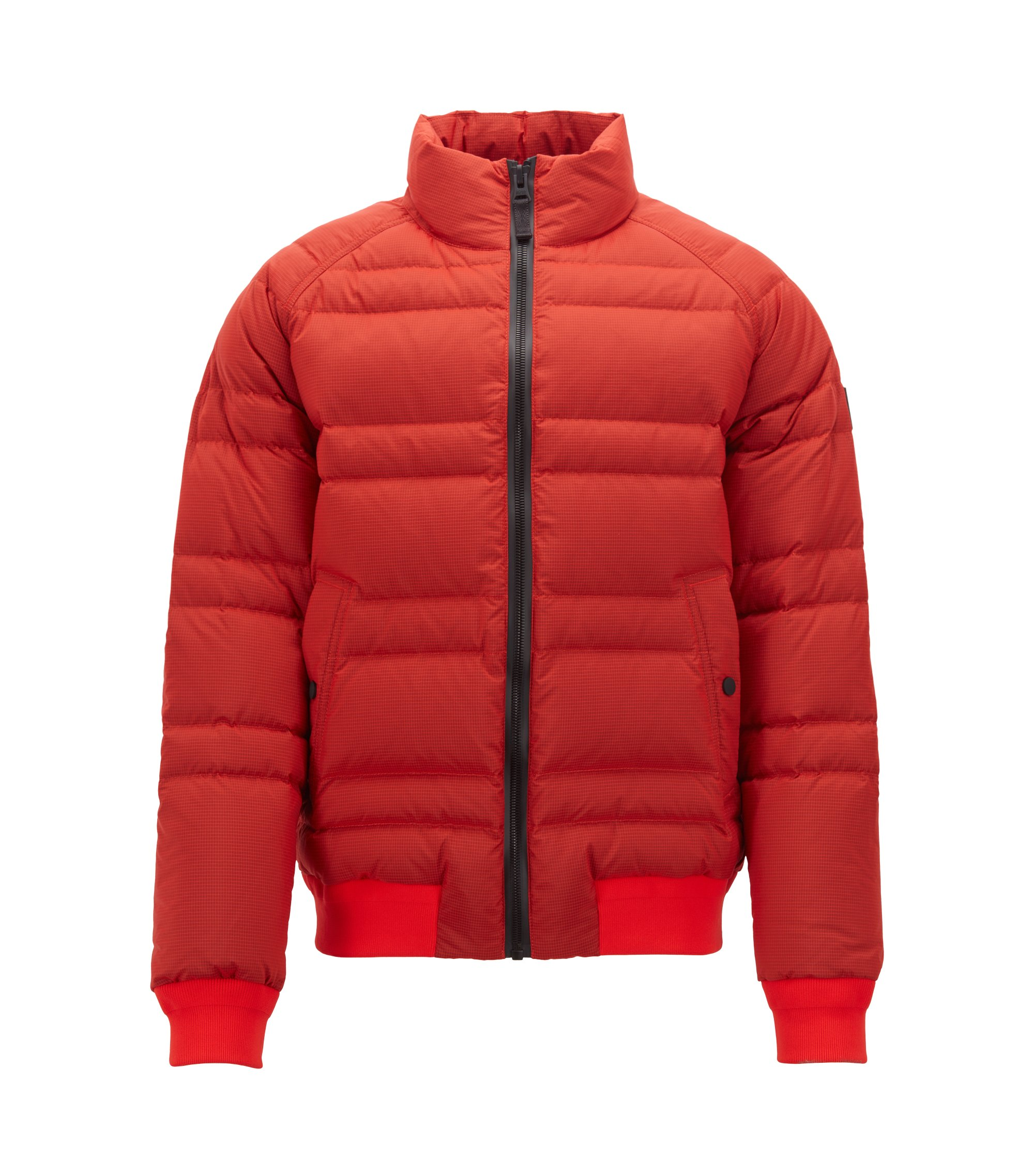 Down jacket in water-repellent ripstop fabric, Red