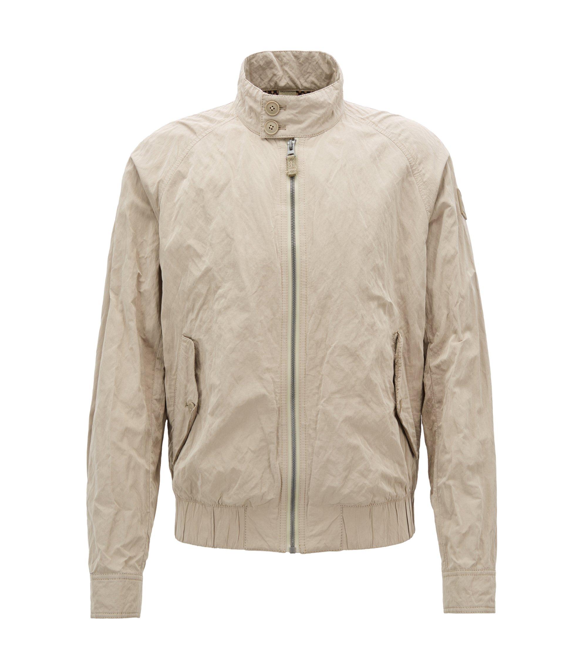 Regular-fit jas van waterafstotend metallic materiaal, Beige