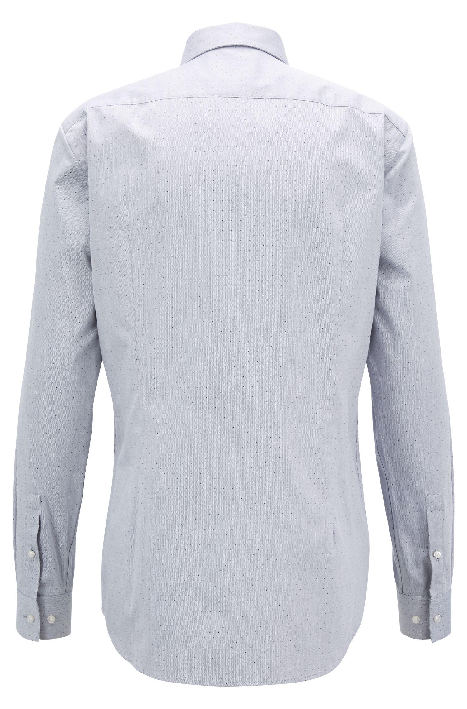 Slim-fit overhemd in een twill van dobbykatoen met aloë vera-finish