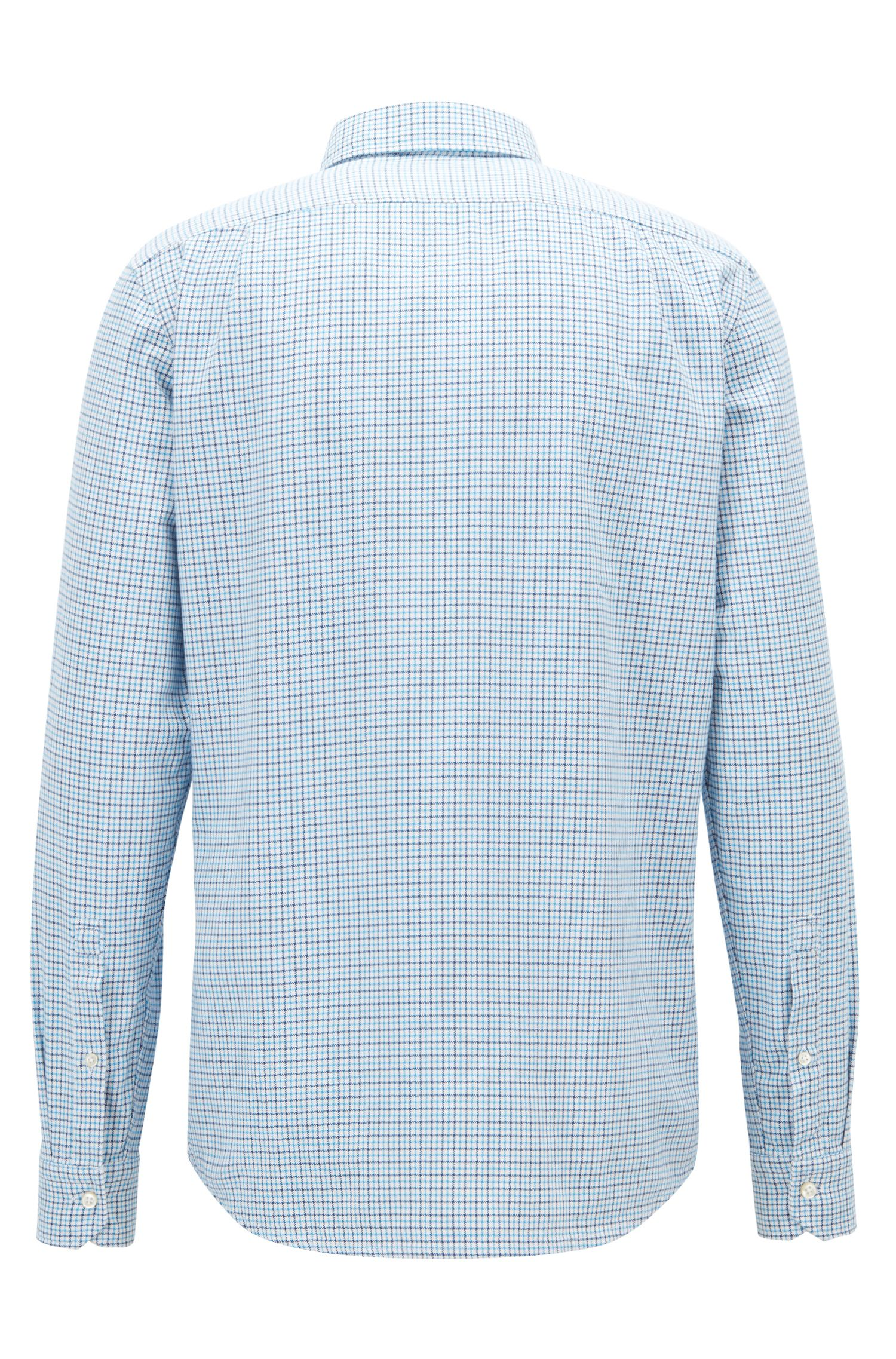 Chemise Regular Fit en coton Oxford à motif vichy, Bleu vif